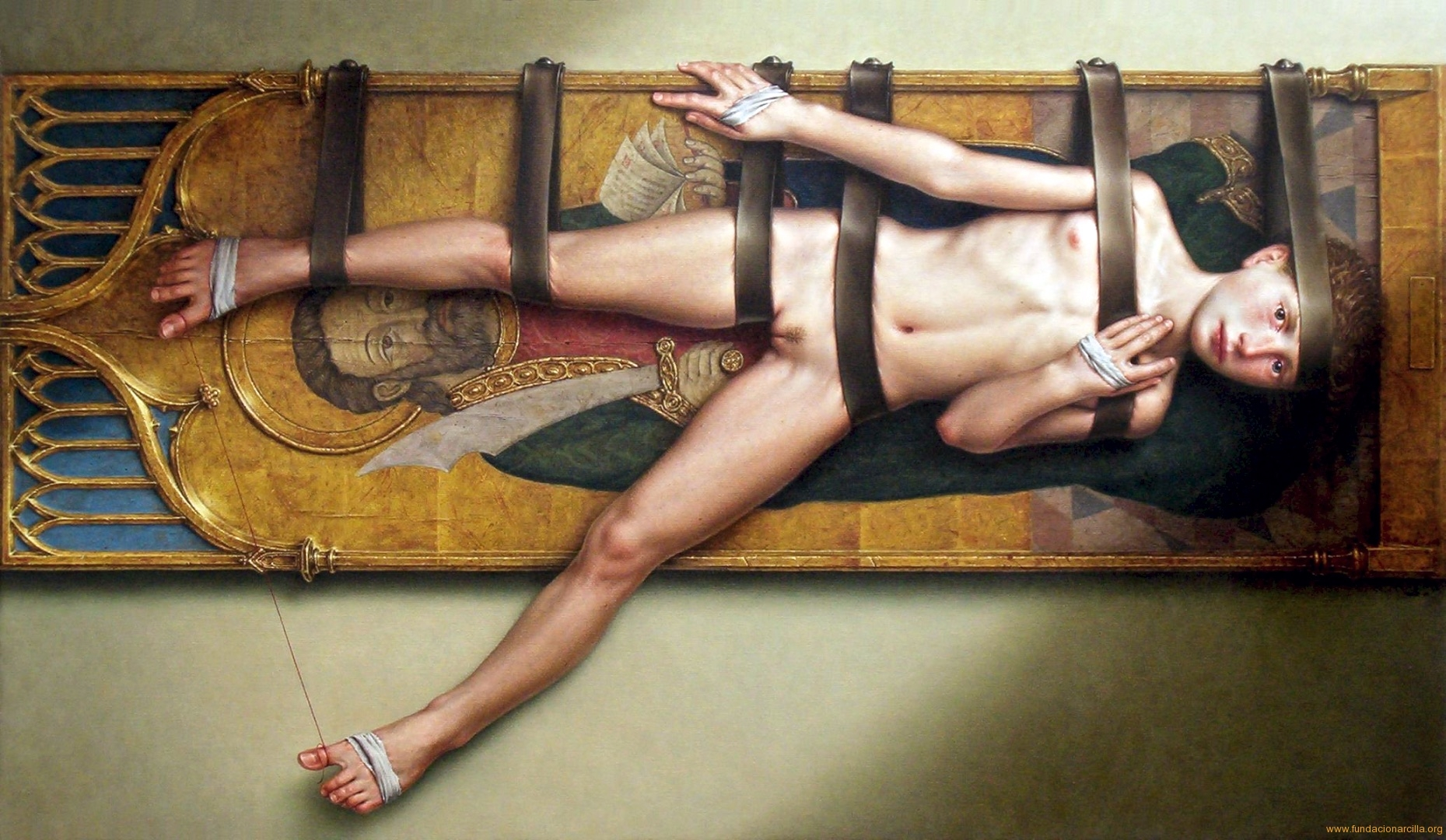 Dino Valls, Spain 'Haitus' 27.5X47in/70X120cm Oil on Canvas 2003