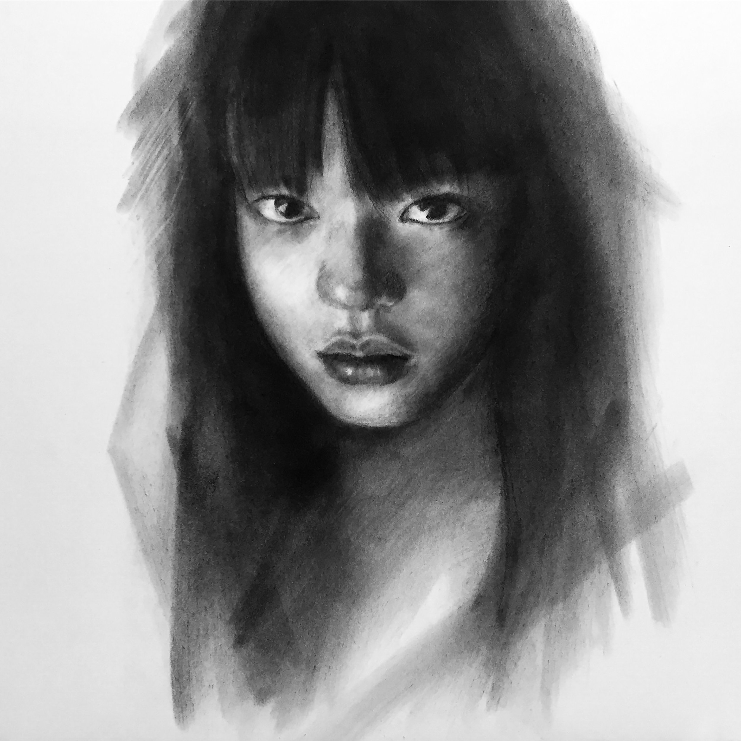 Junyi_Liu_The Gaze_charcoal on paper_12x12in_2017.jpg