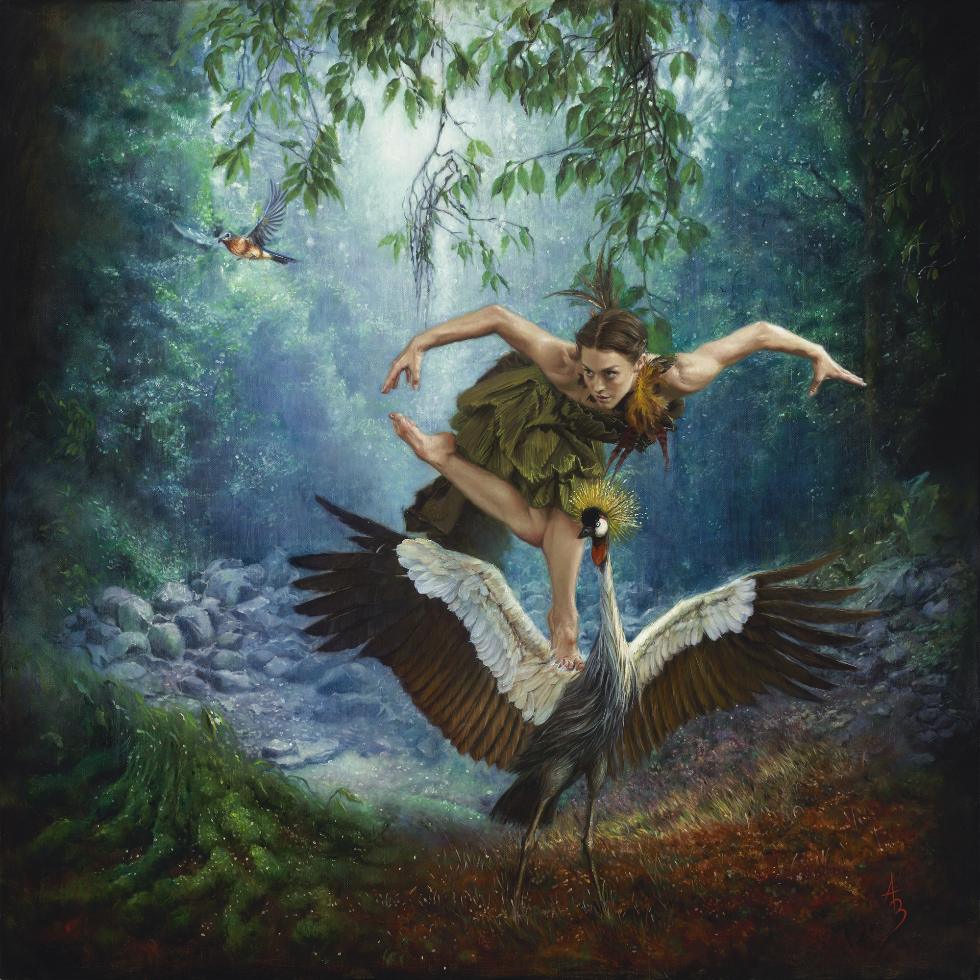 Alexandra Manukyan |  Birds of a Feather  | oil on Belgian linen | 40x40