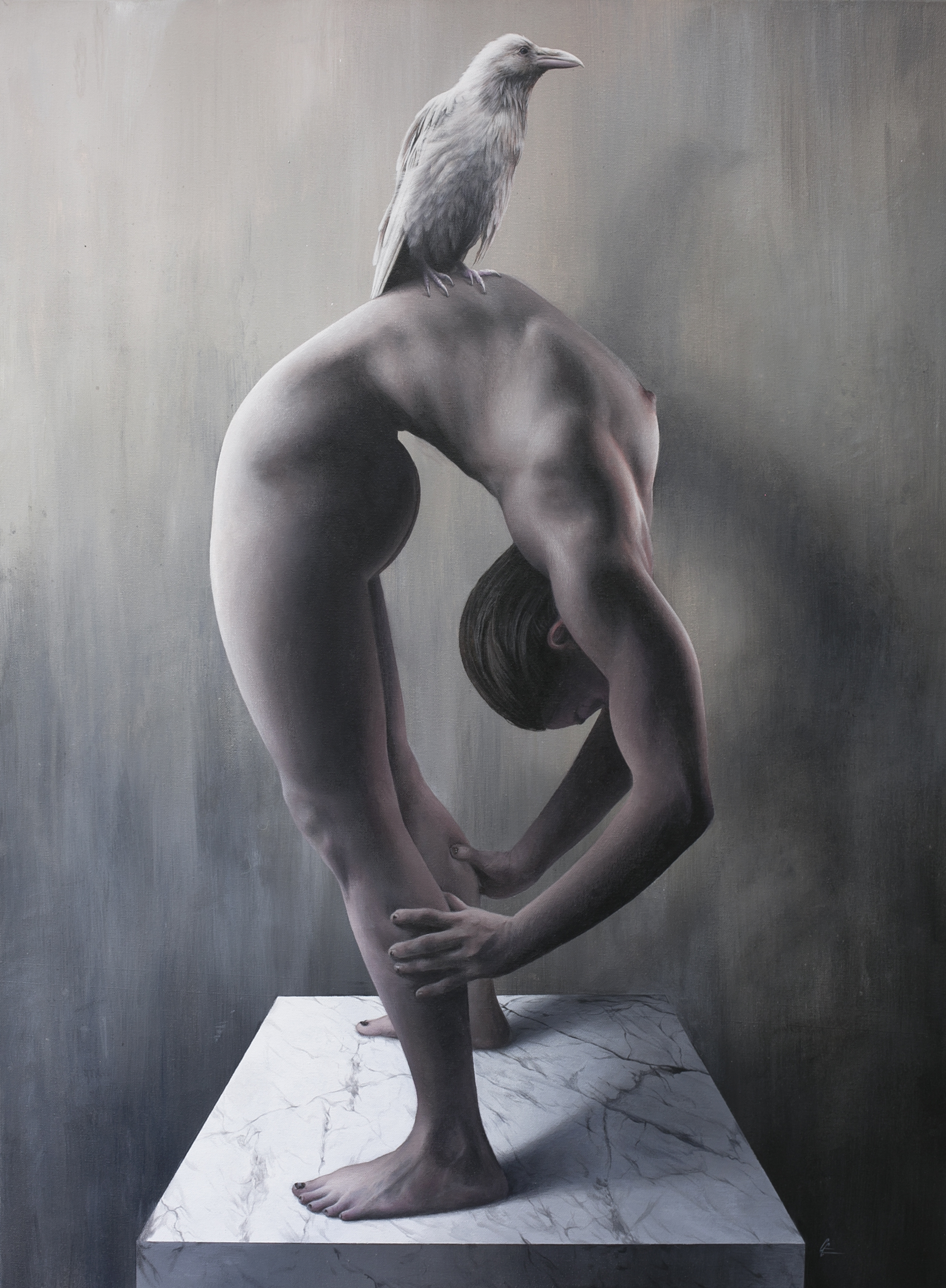 Bending Over Backwards Acrylic on Linen 30 x 40 inches