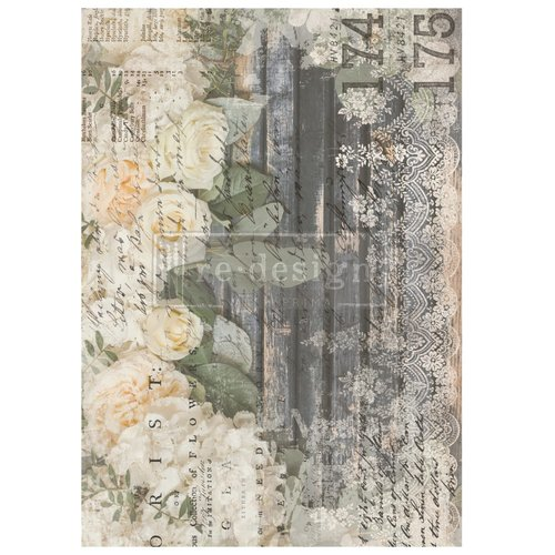 Flipping Fabulous Salina FREE SHIPPING ELIGIBLE Redesign with Prima Violet Hill decor transfer