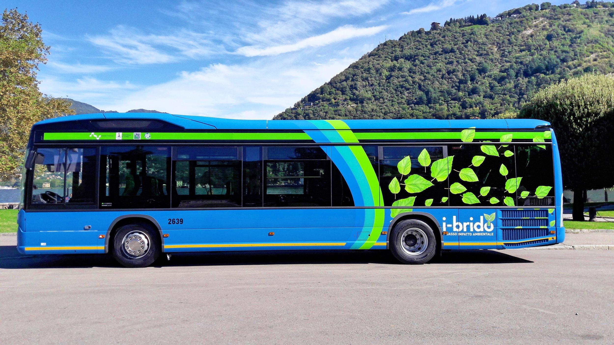 A typical ASF blue bus (Image via www.trasporti-italia.com)