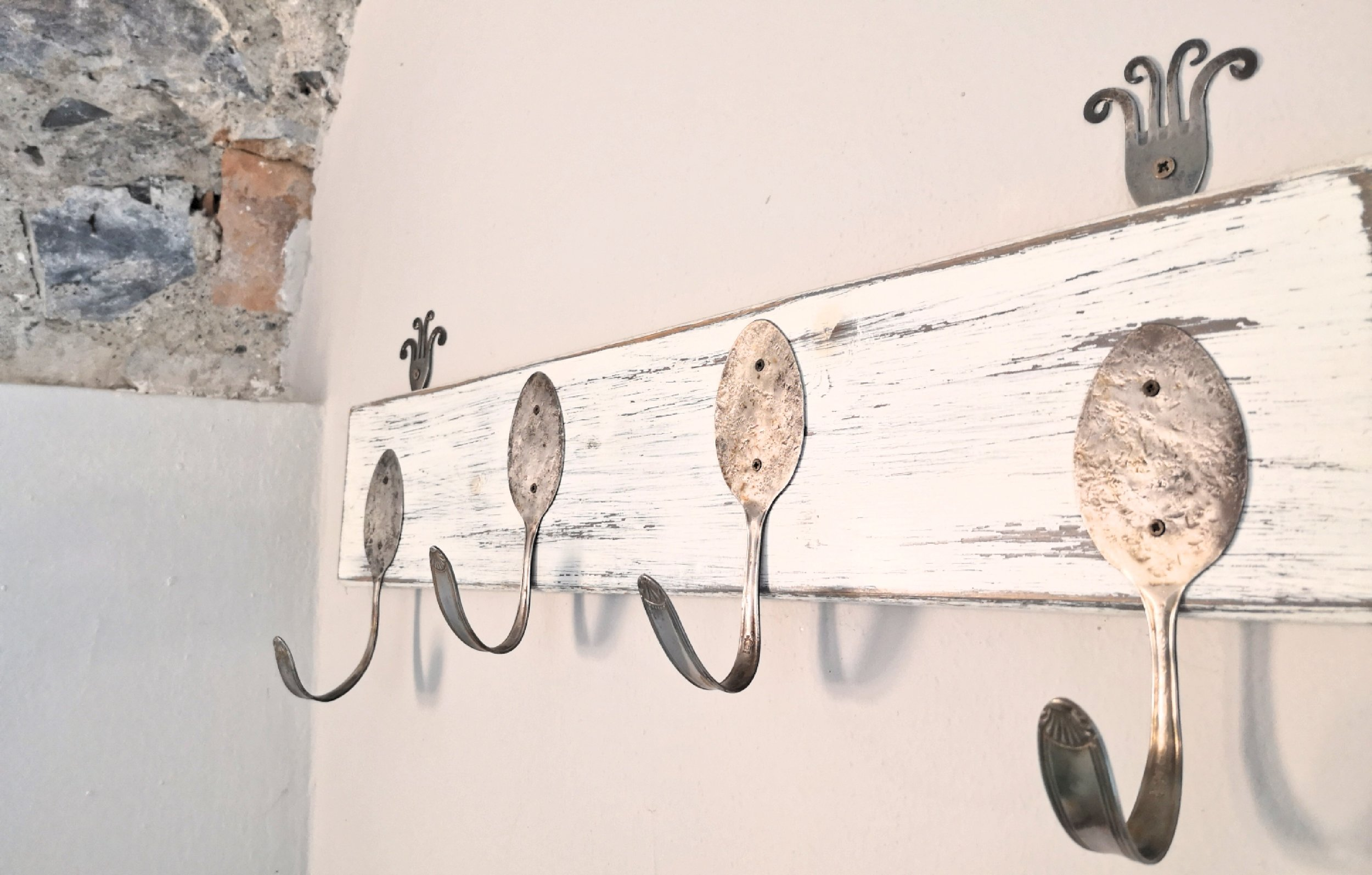 Our hook made of vintage spoons
