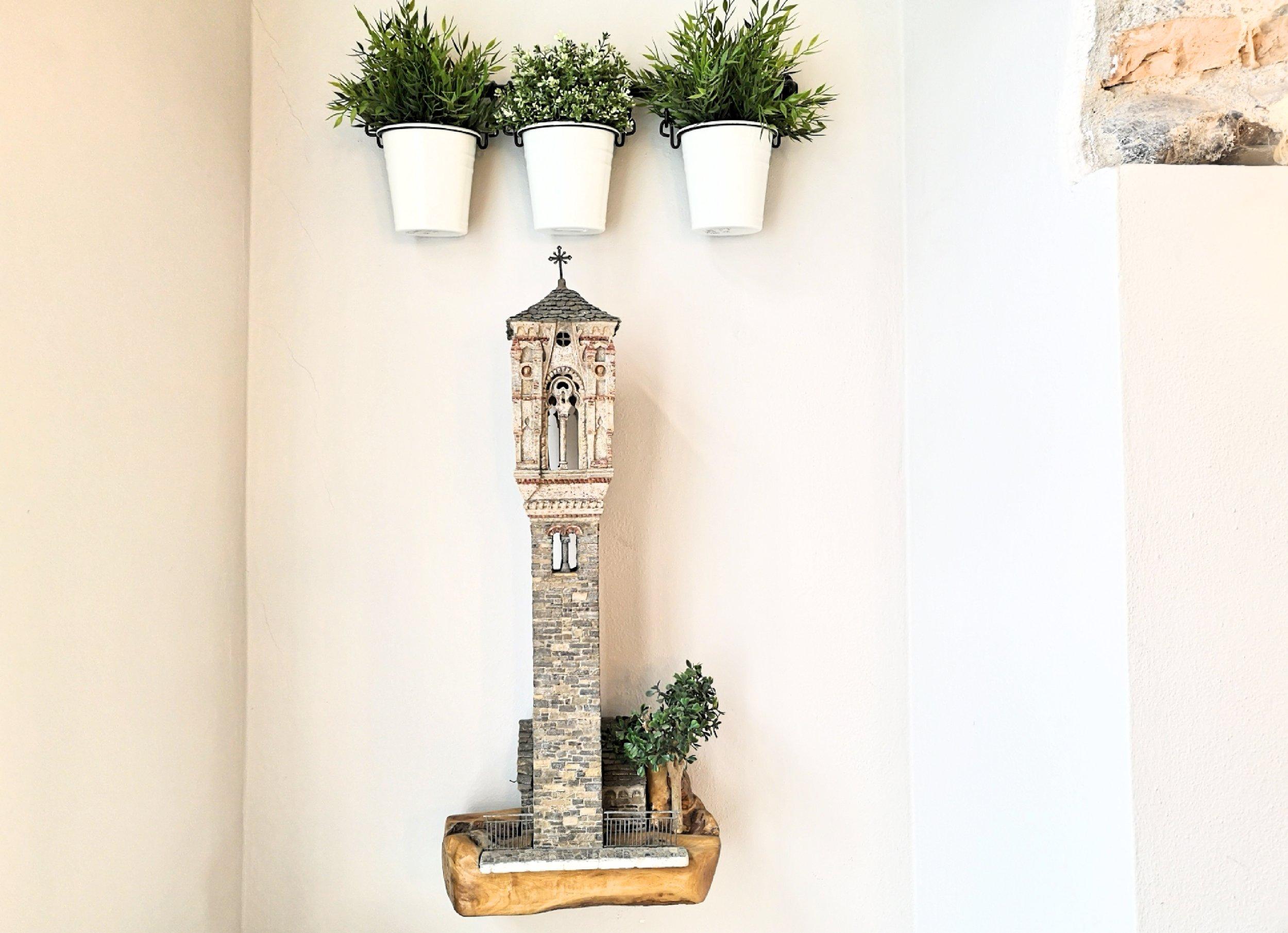 campanile di Ossuccio miniatura lakeside real estate lago di como