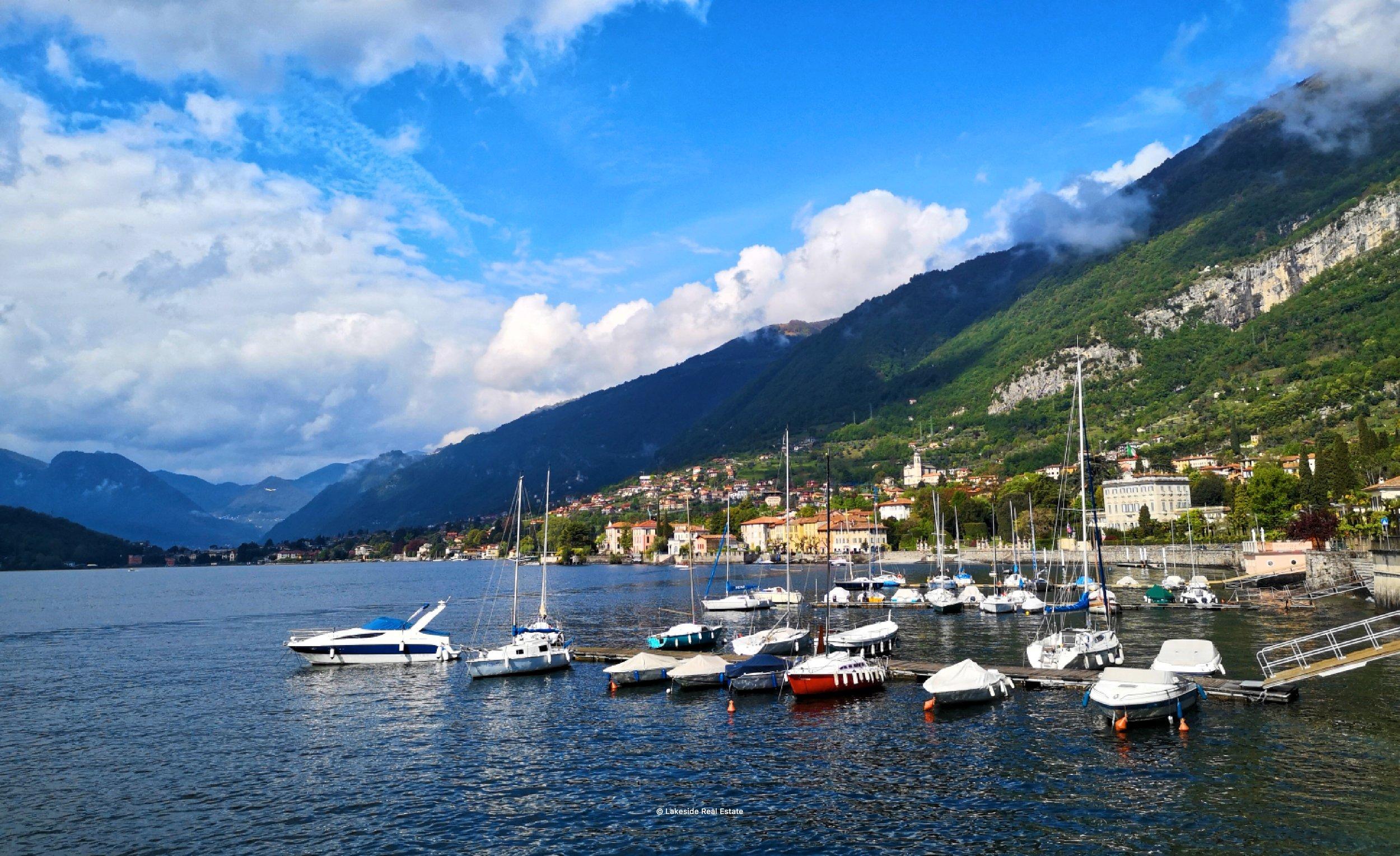 The harbour in Tremezzo (with Villa Sola Cabiati in the background)