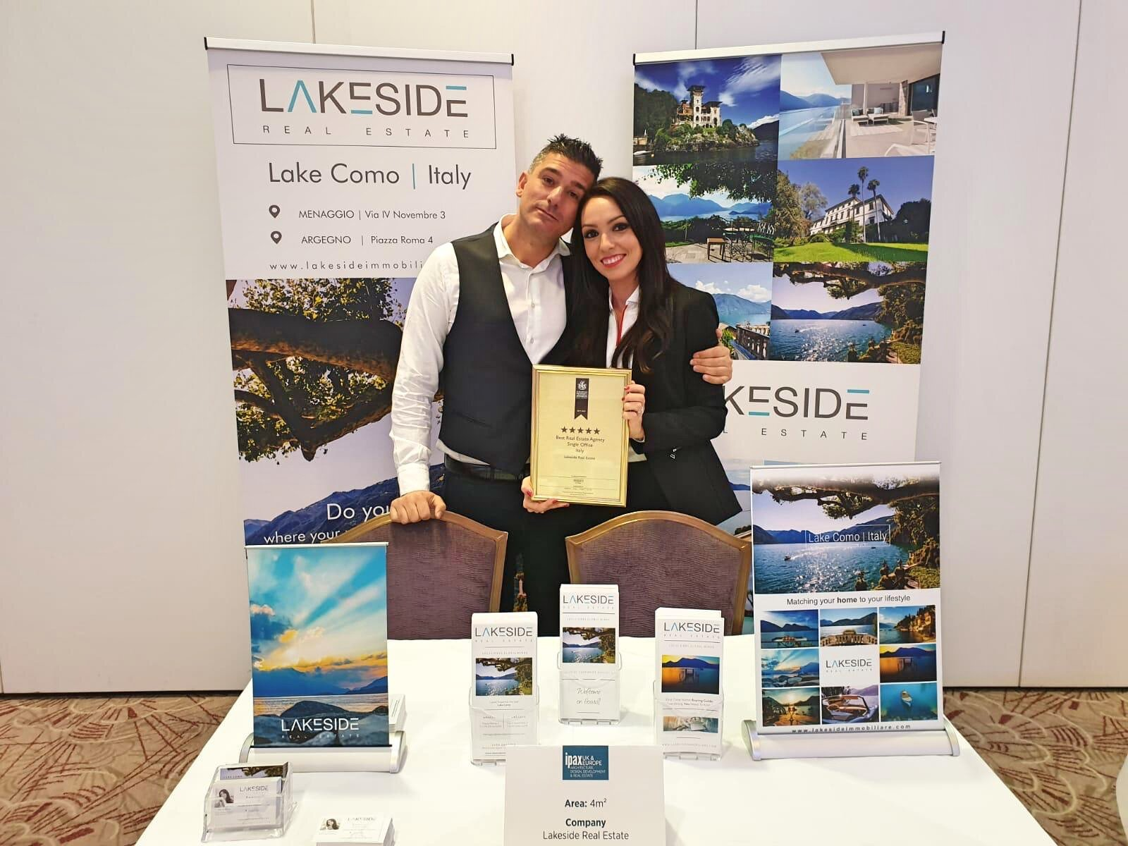Sara, Lakeside CEO, with Eng. Luciano Galli, our Project Manager