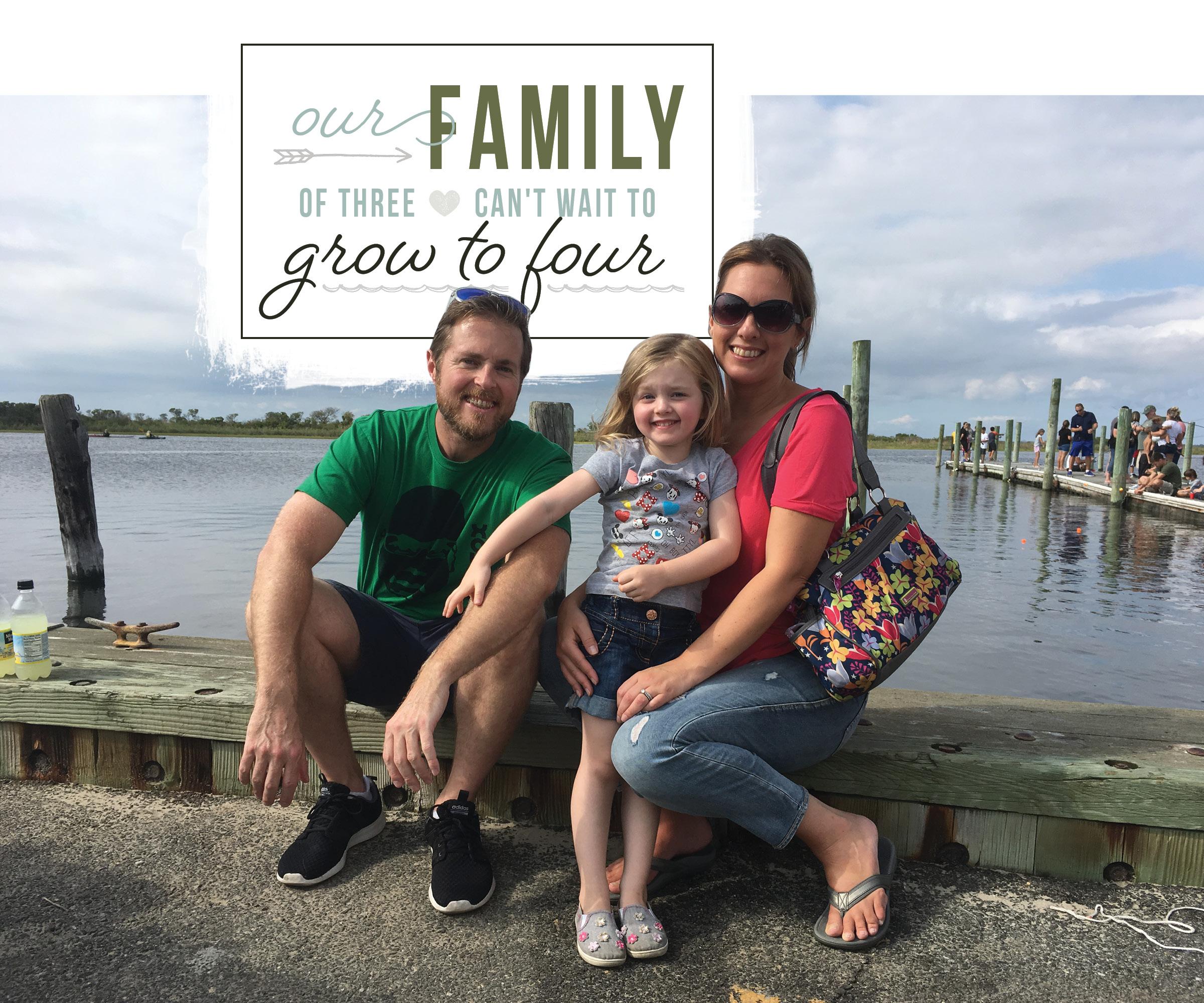 Family of three can't wait to grow through adoption