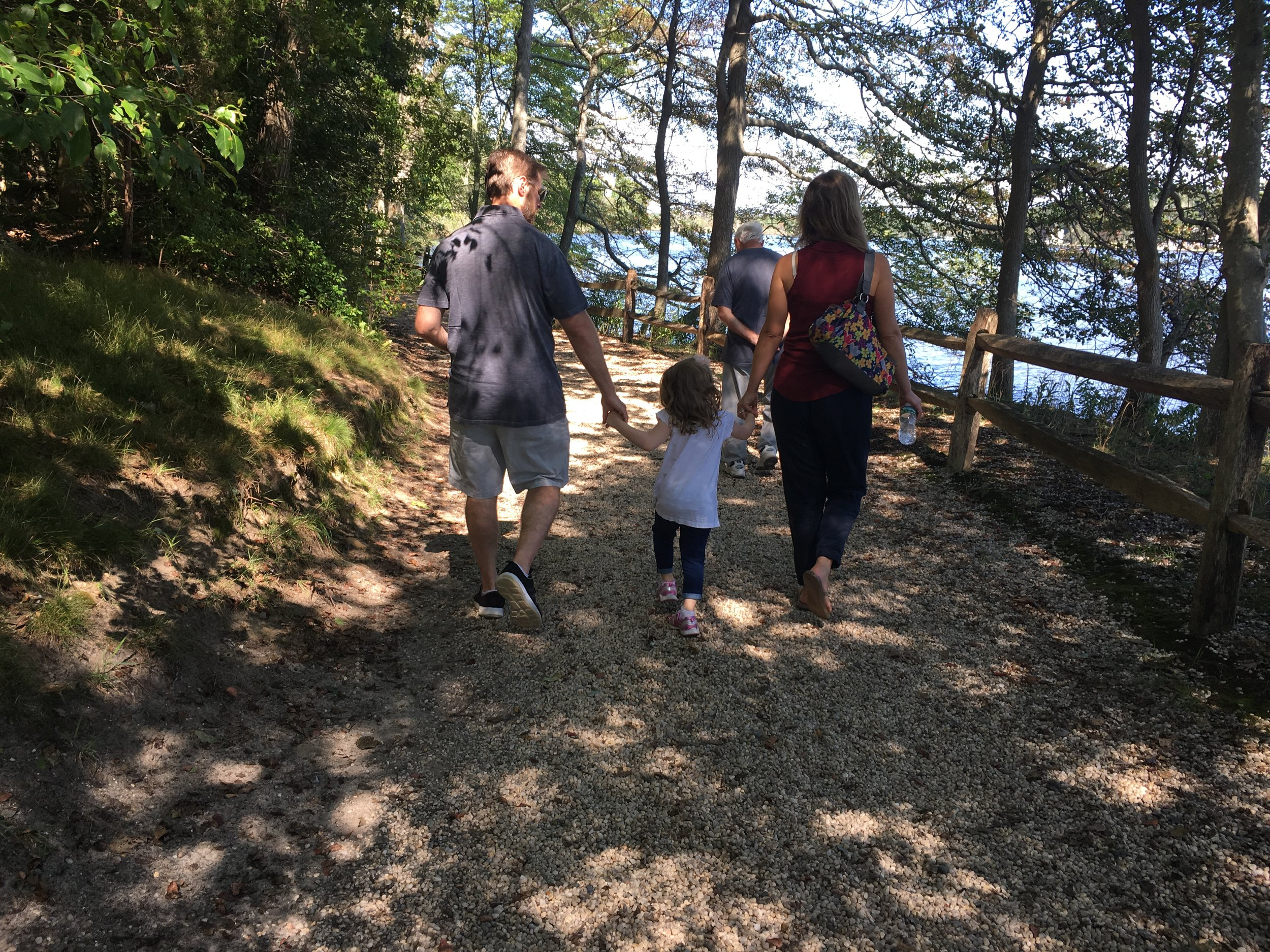 A walk on Grandma's birthday