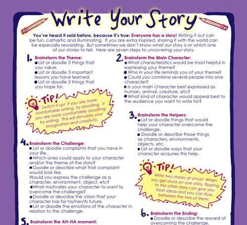 Write Your Story  is a guide that will help you uncover, create and share the unique stories that are within you!
