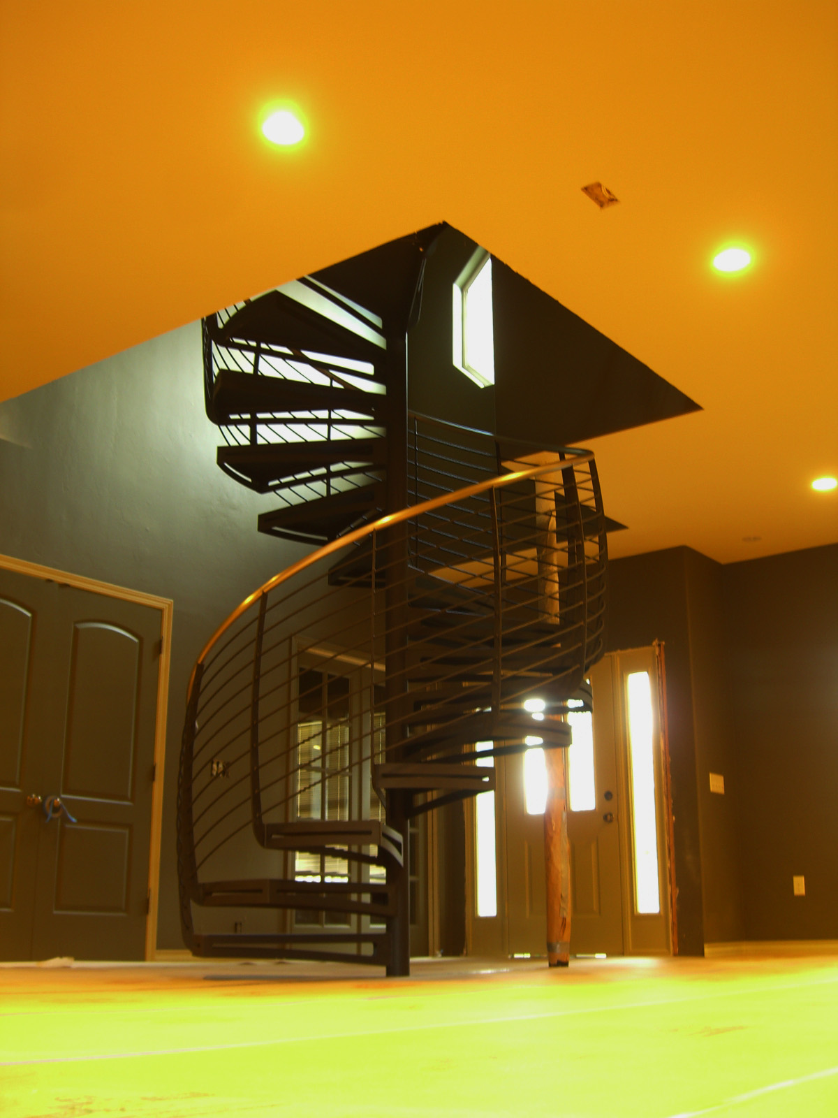 Interior Spiral Staircase with Curved Balusters