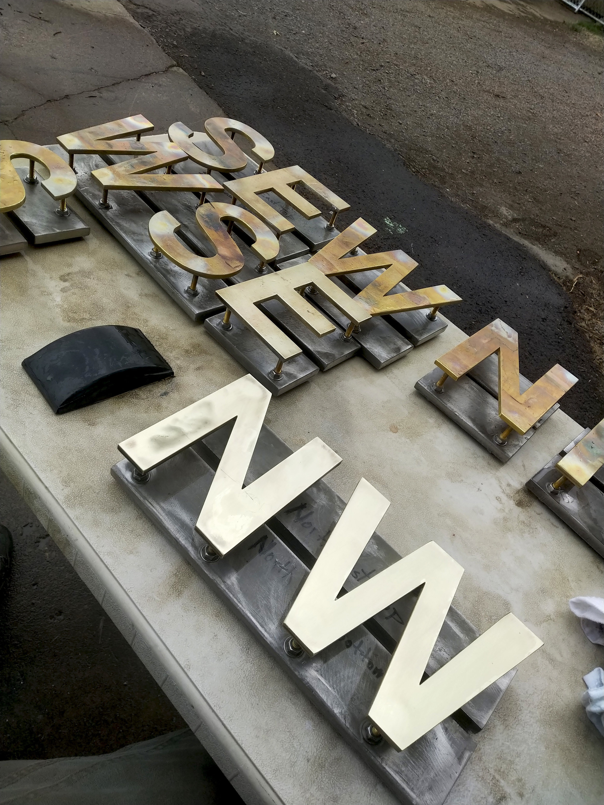 High Polished Brass Letters NW