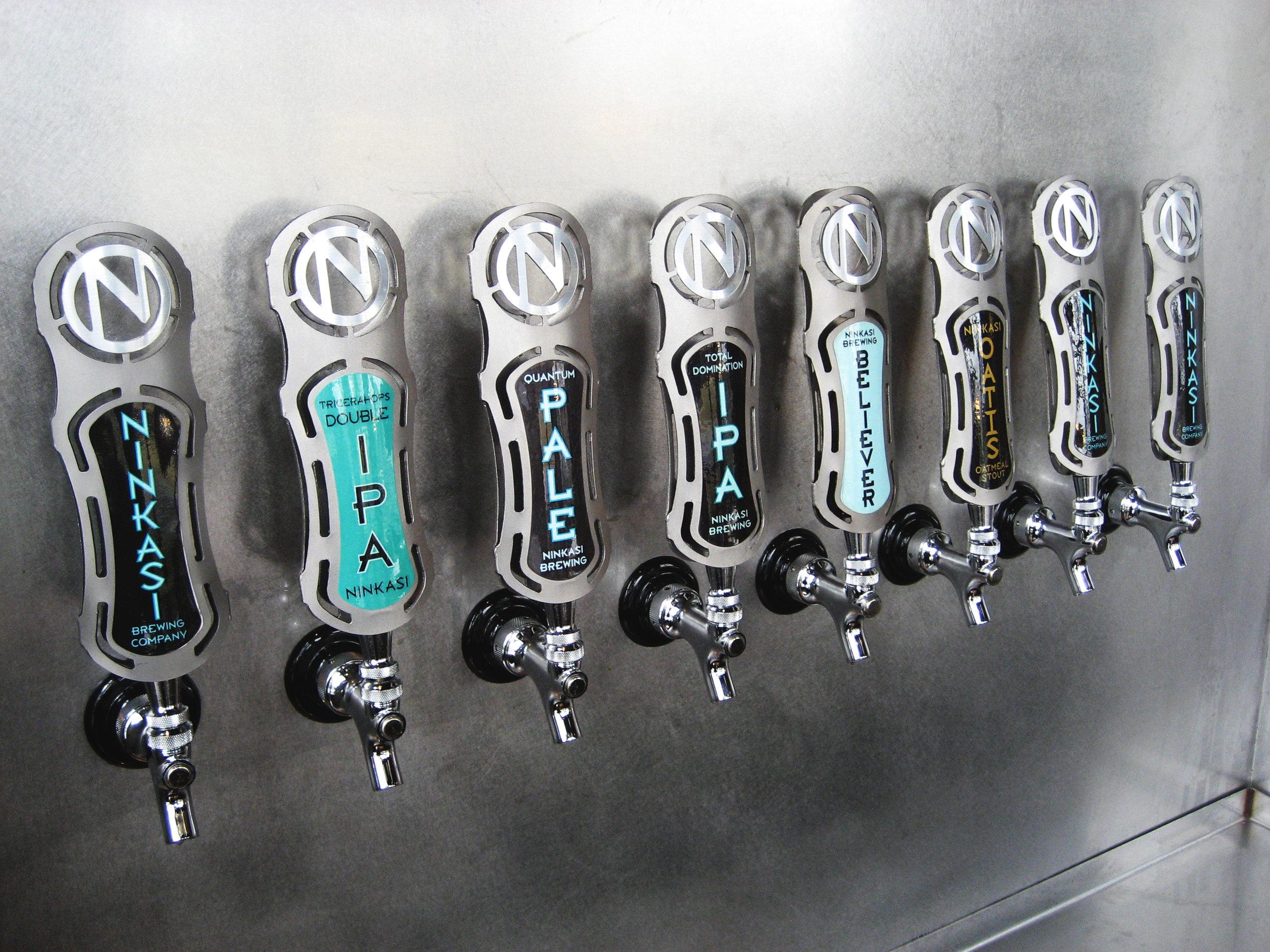 Ninkasi Brewery Tap Handles