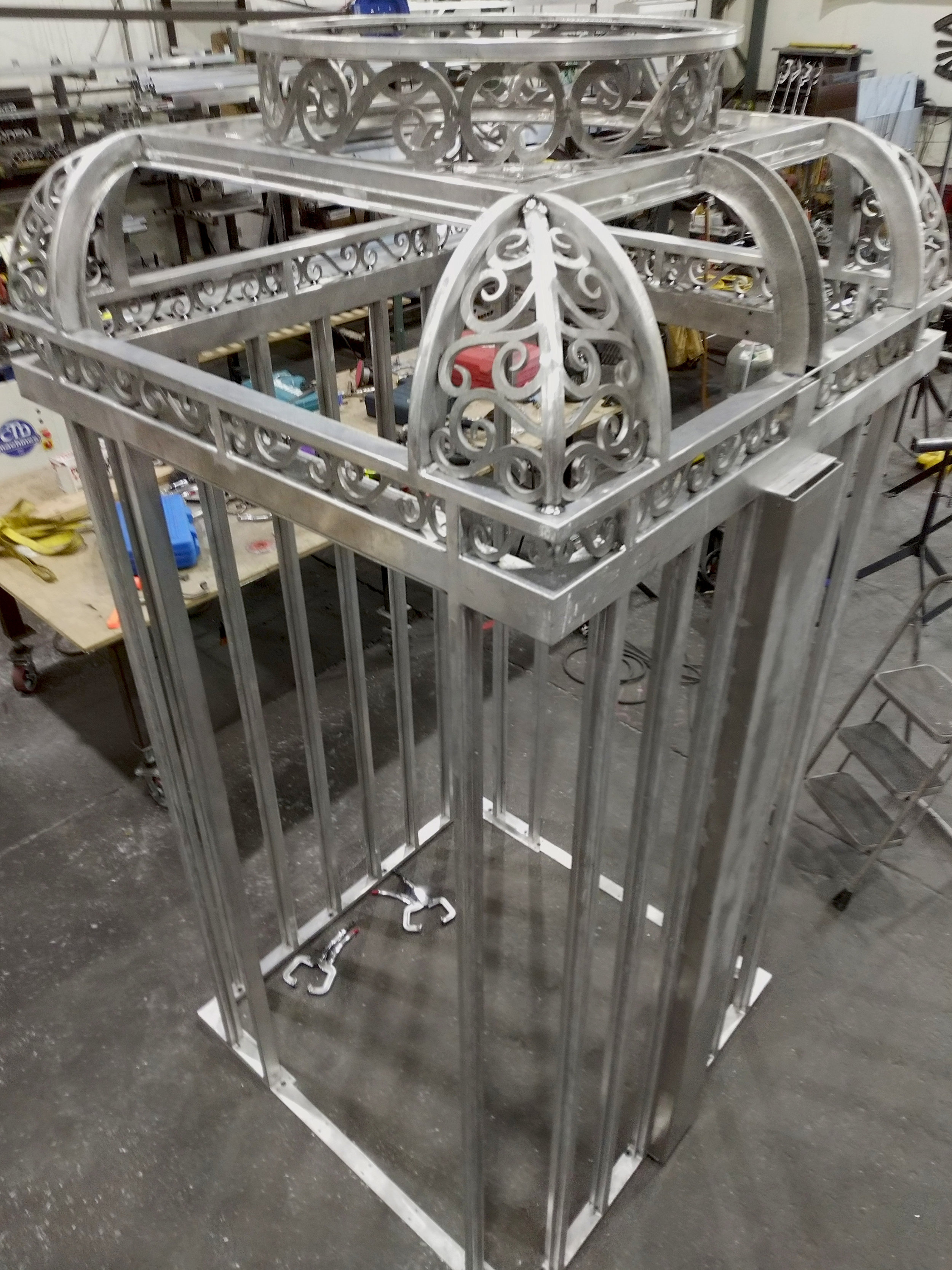 Ornate Elevator Cage Aluminum Welded Art