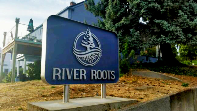 River Roots Corporate Monument Sign