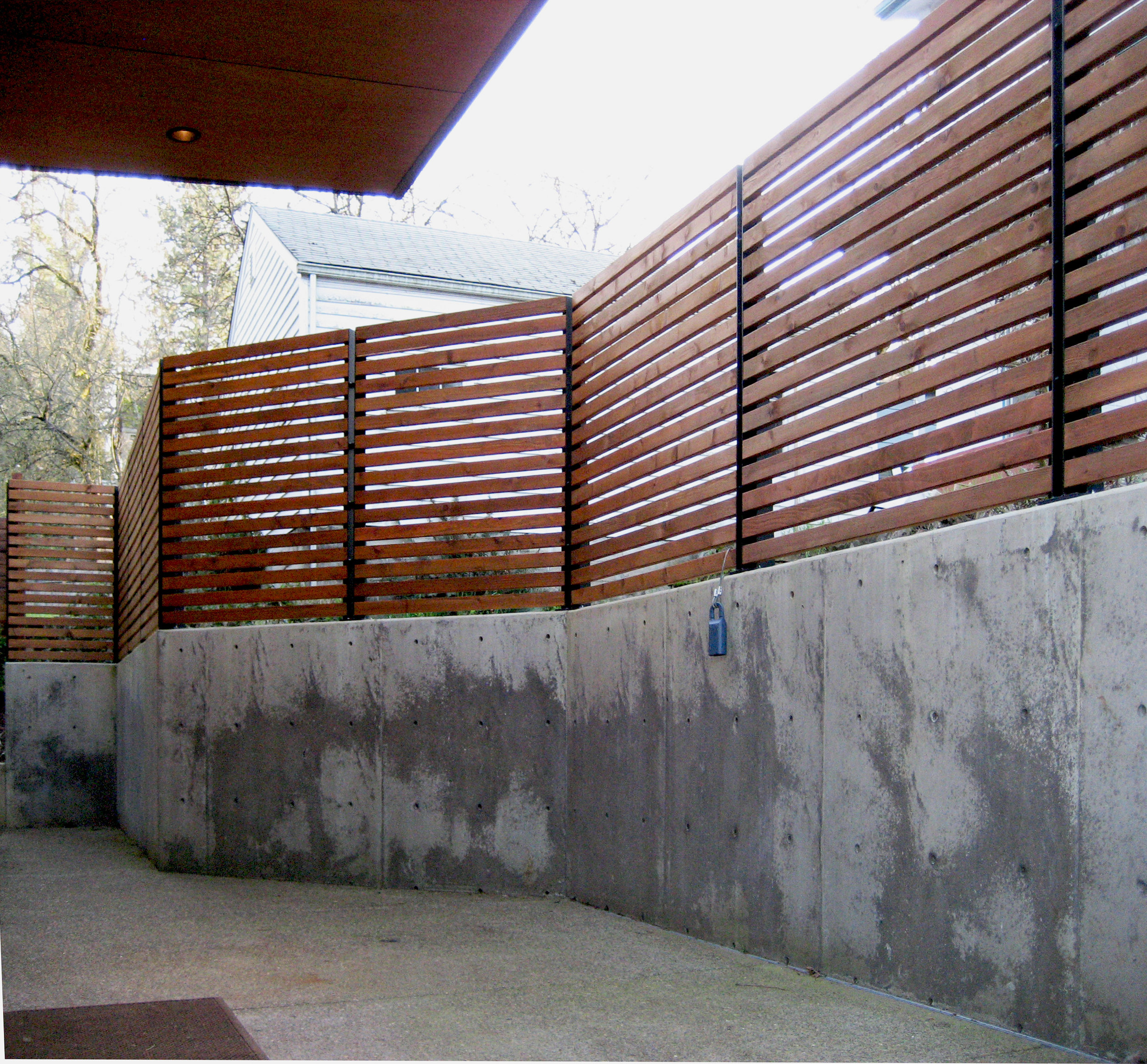 Wood Metal Screen Exterior Custom Design