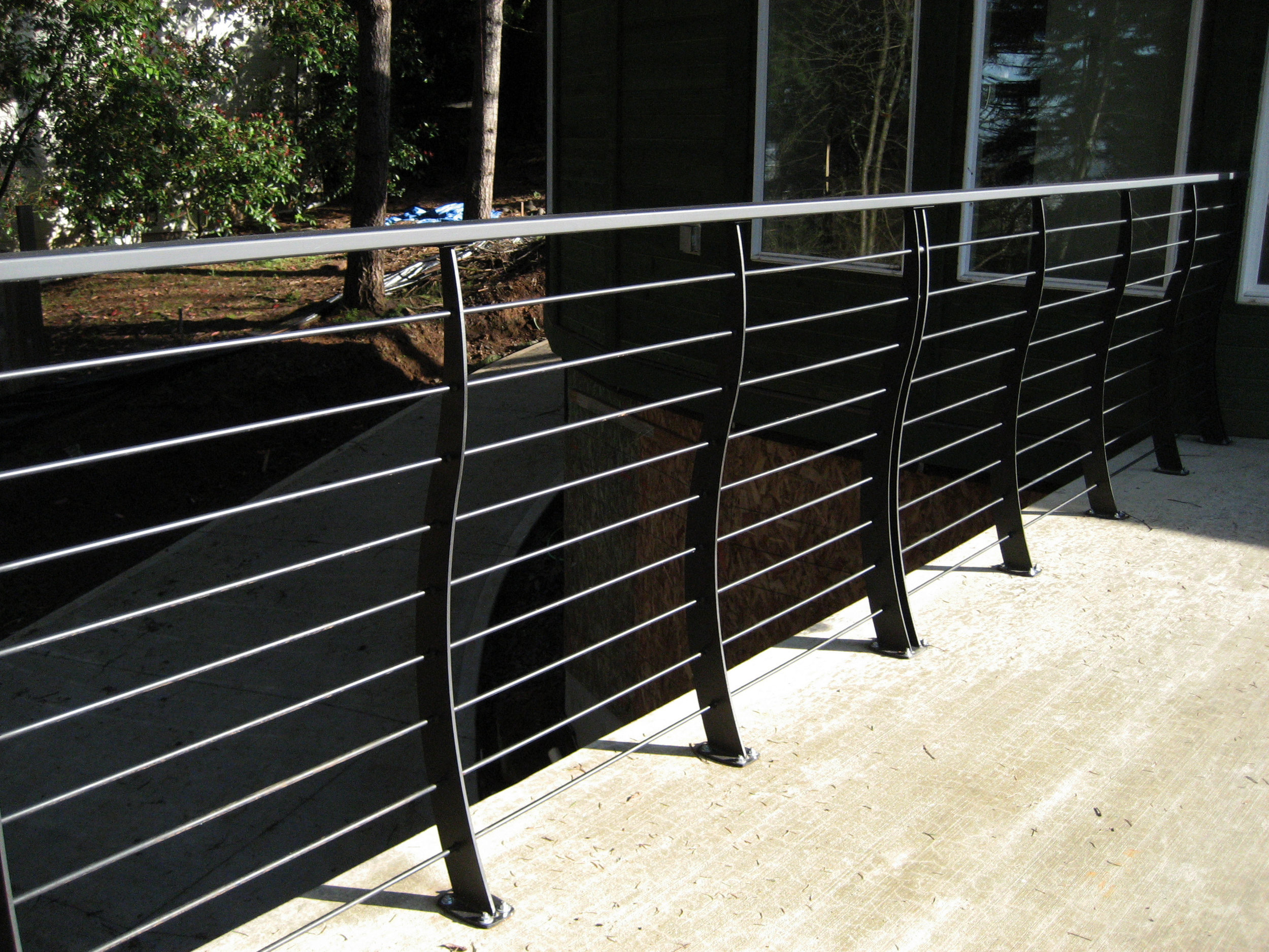 Handrail with Curved Balusters