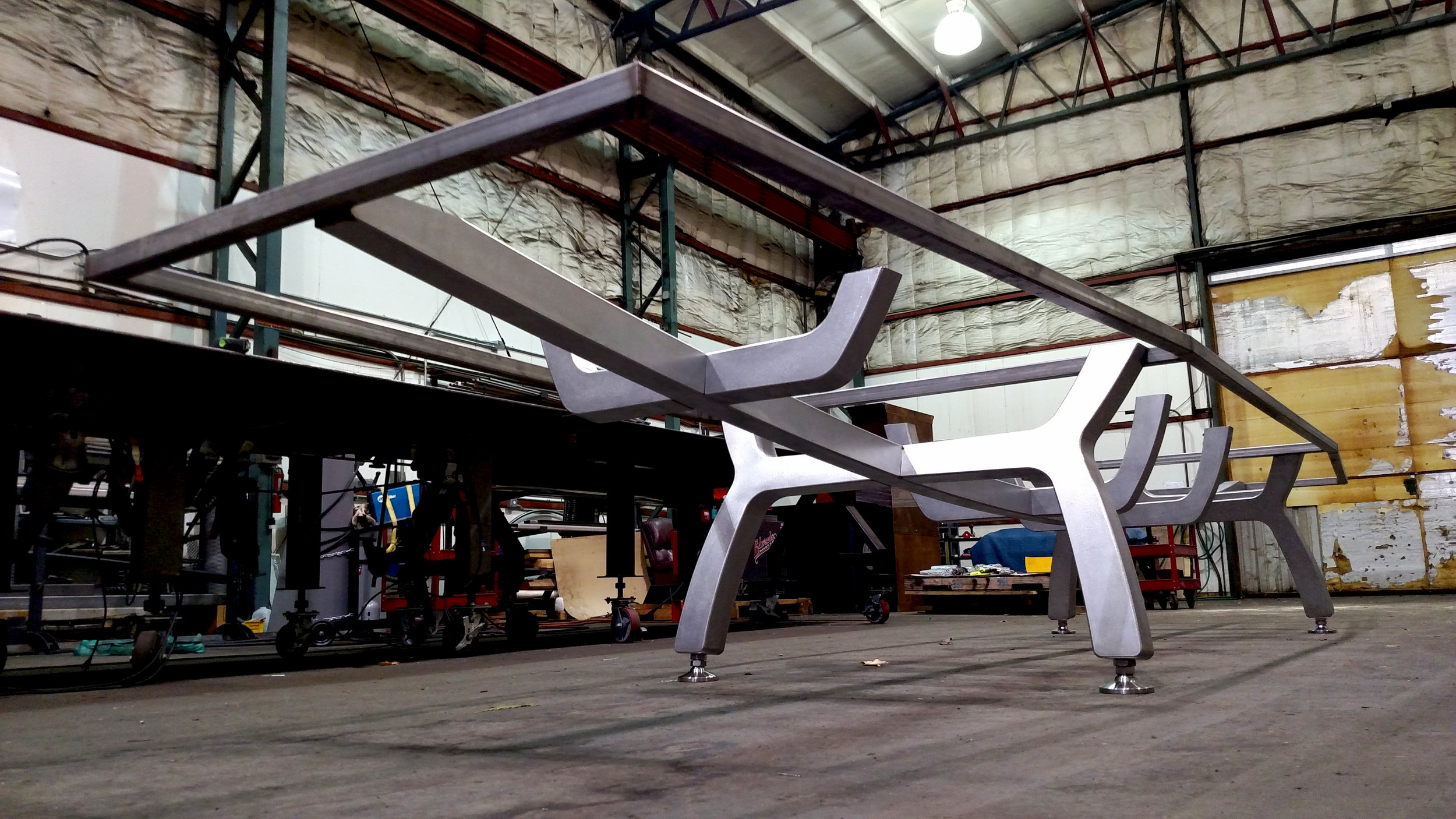 Fabrication of Ninkasi Brewing Corporate Office Table
