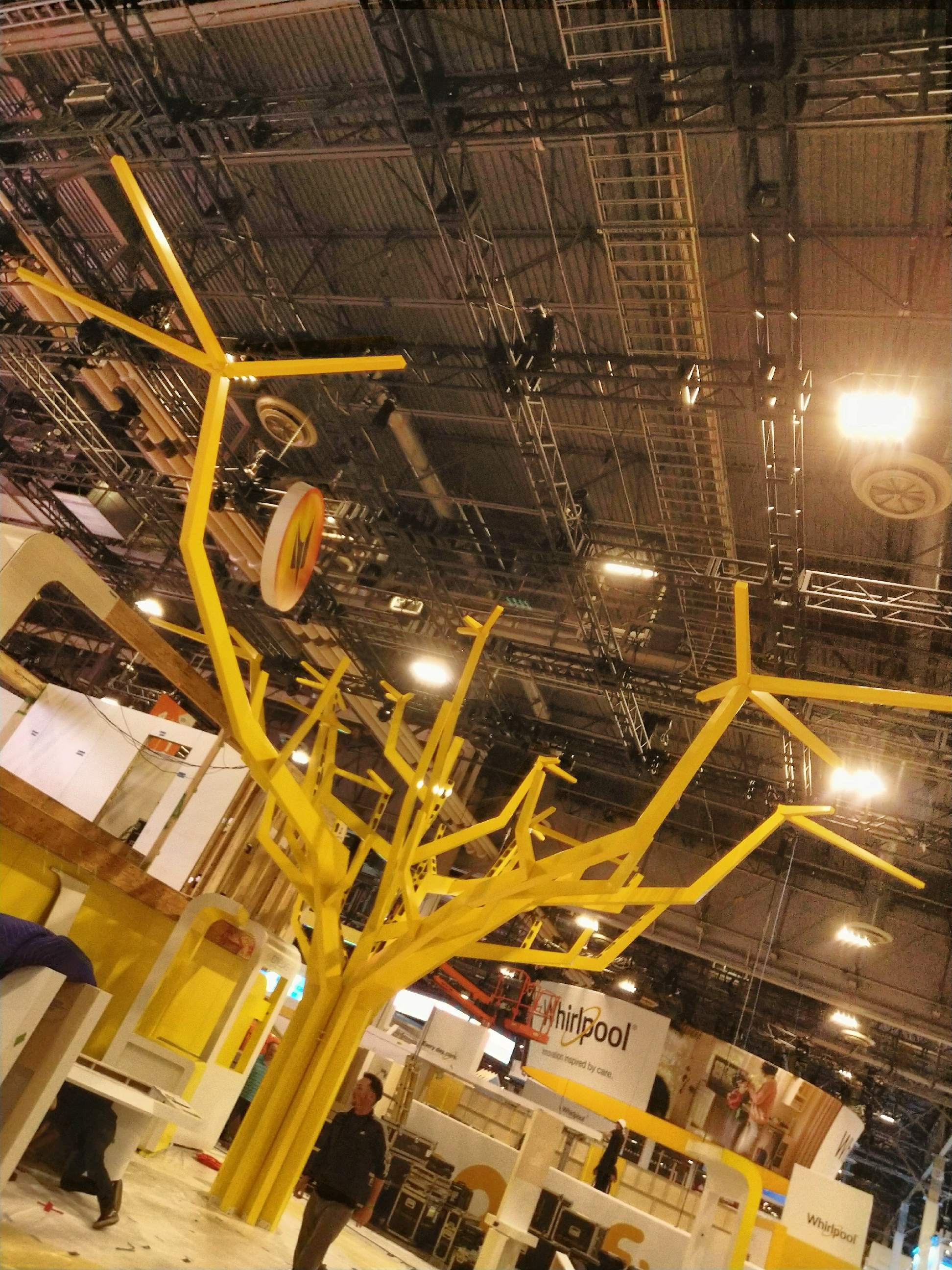 La Poste Yellow Powder Coated Tree