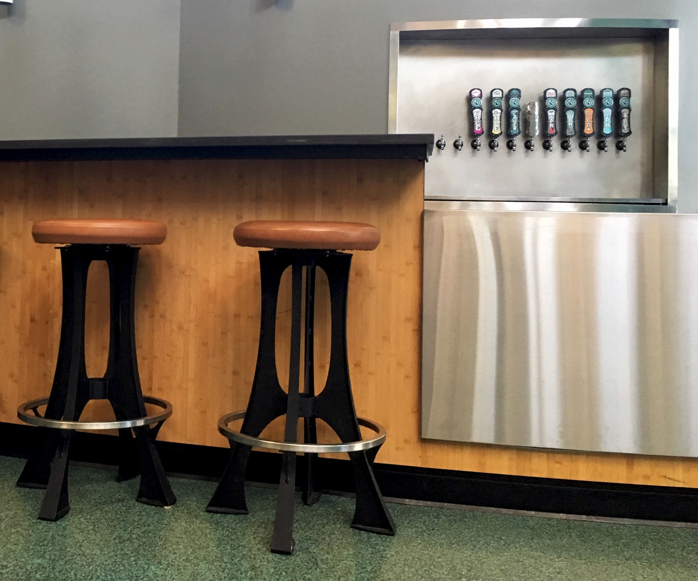 Ninkasi Brewery Metal Bar Stools