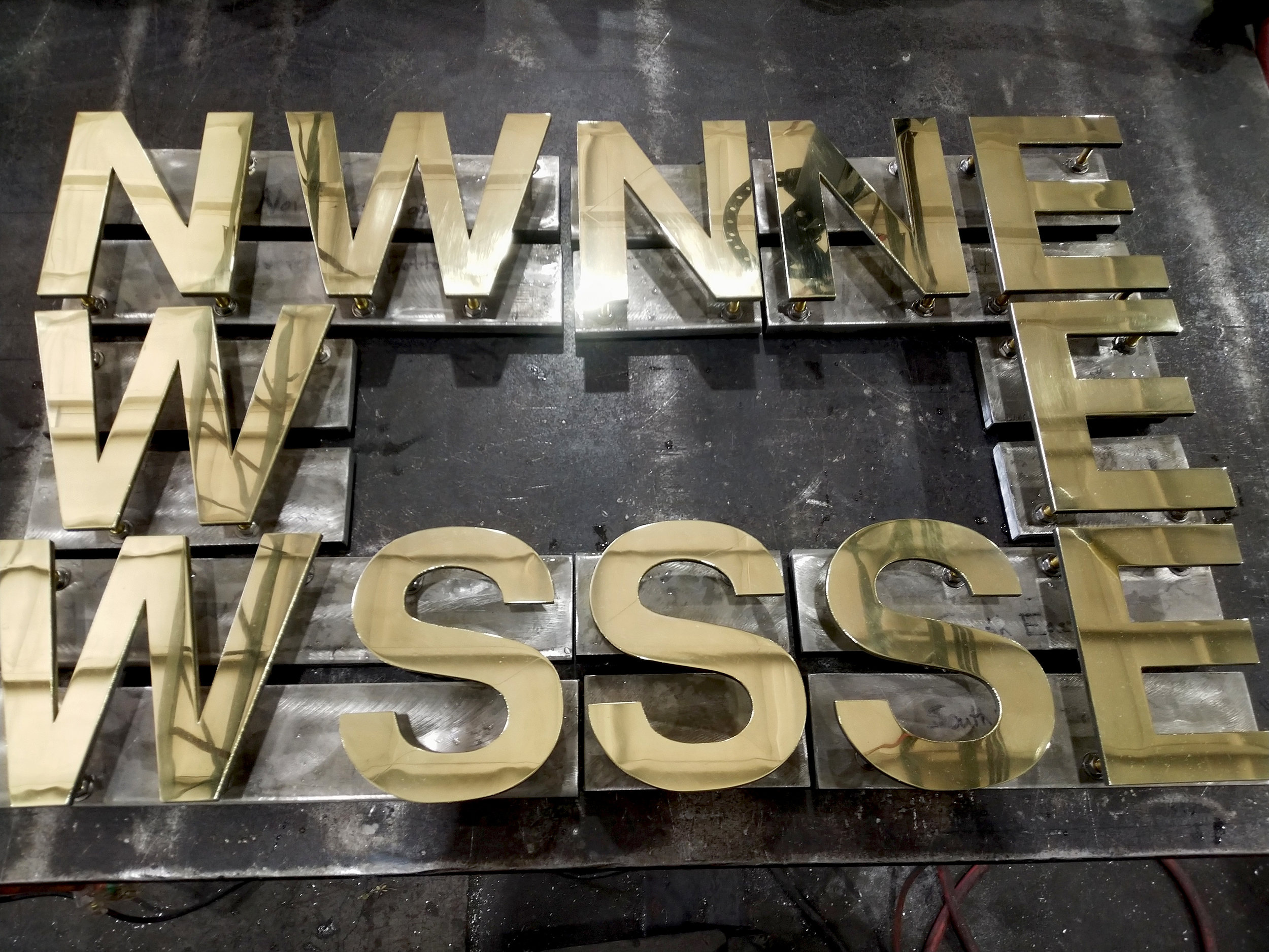 High Polished Brass Letters