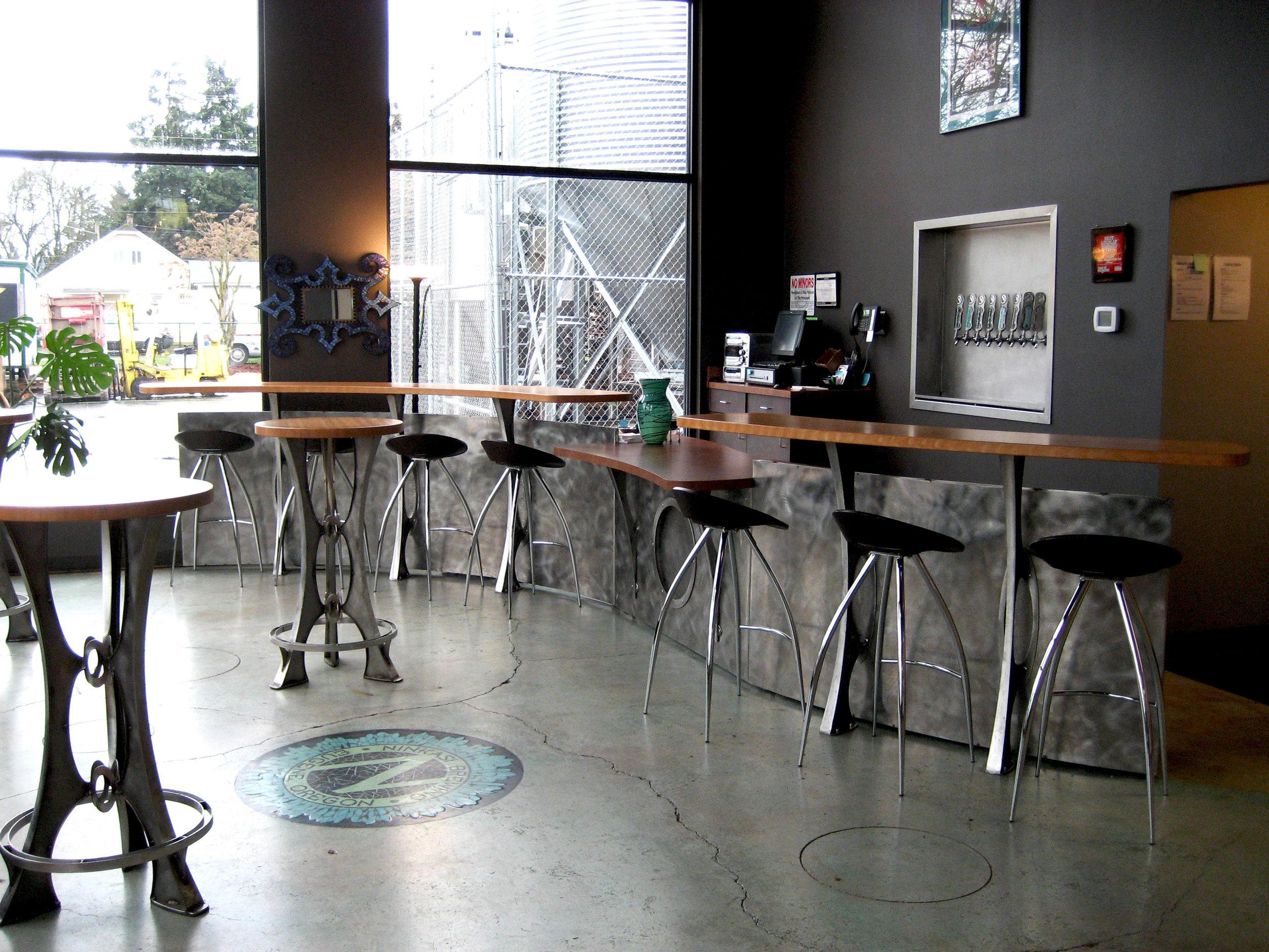 Ninkasi-Brewing-tasting-room-custom-fabricated-stainless-steel
