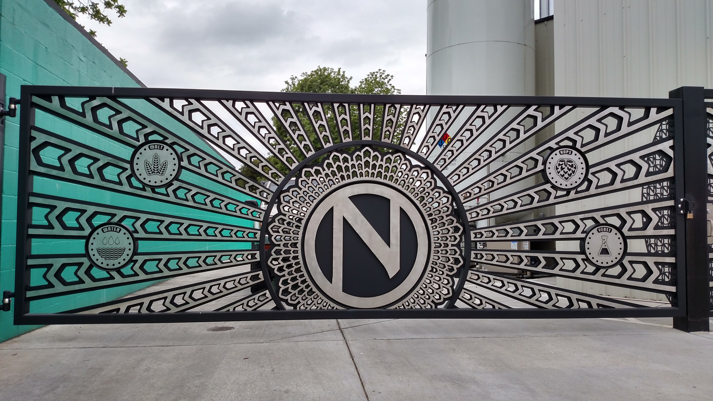 Ninkasi Brewing Stainless Steel Powder Coated Triptych Gate