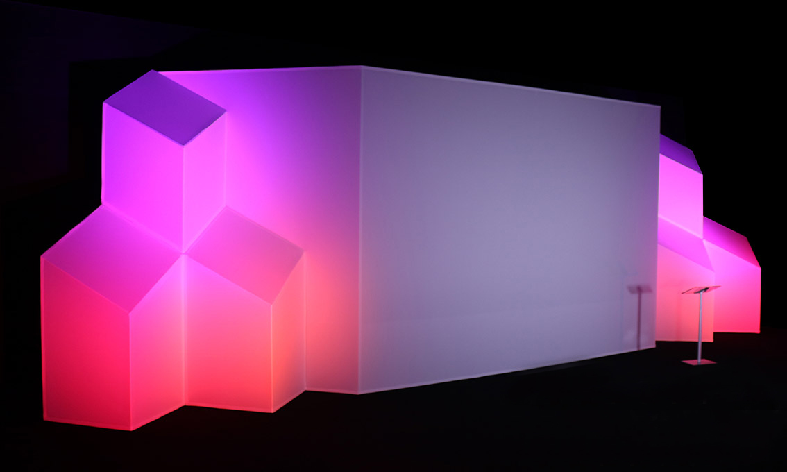 Geometric Illuminated Aluminum Fabricated Stage Design