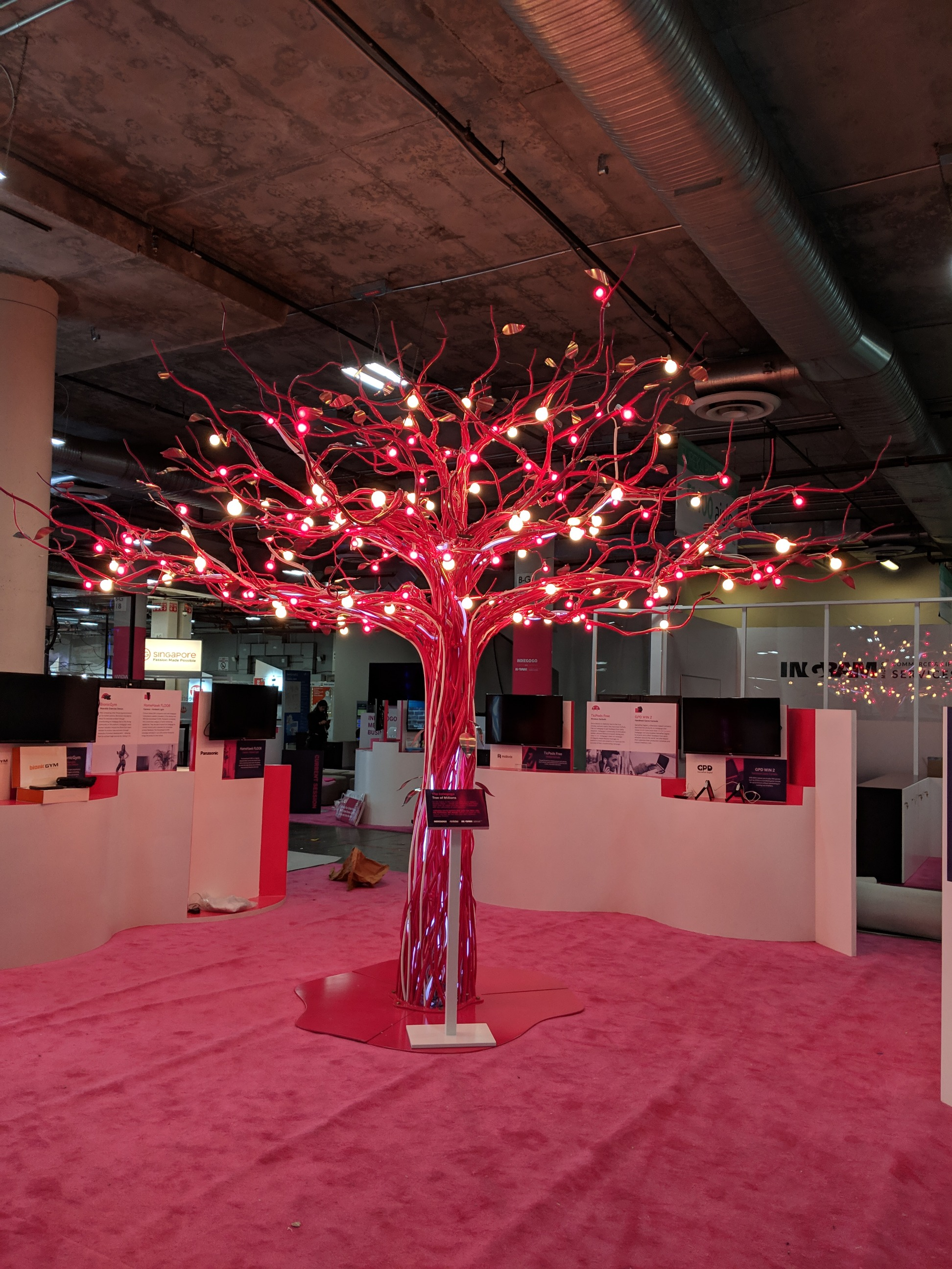 Indiegogo Pink Metal Tree