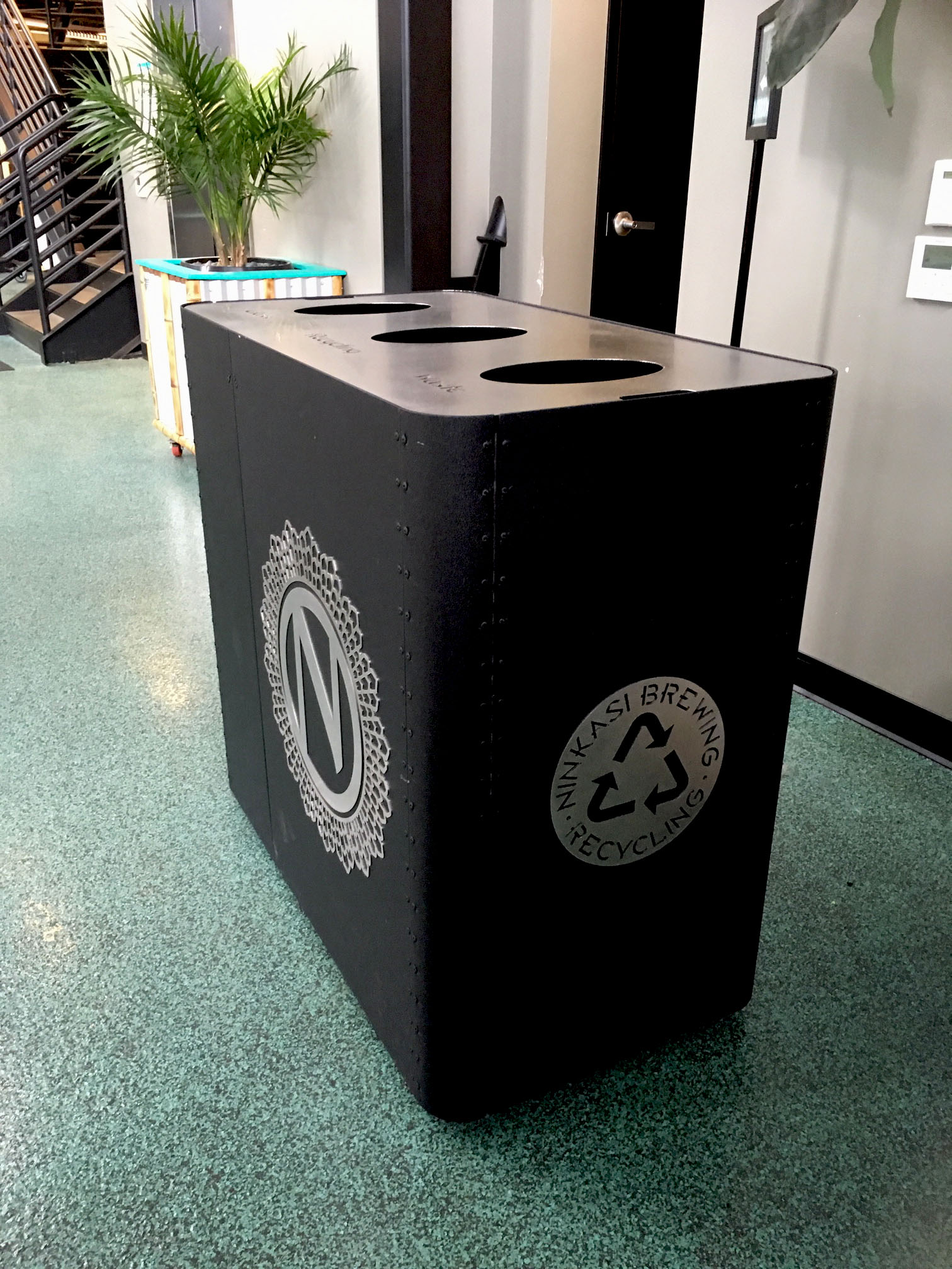 Ninkasi Brewing Branded Recycling Bins