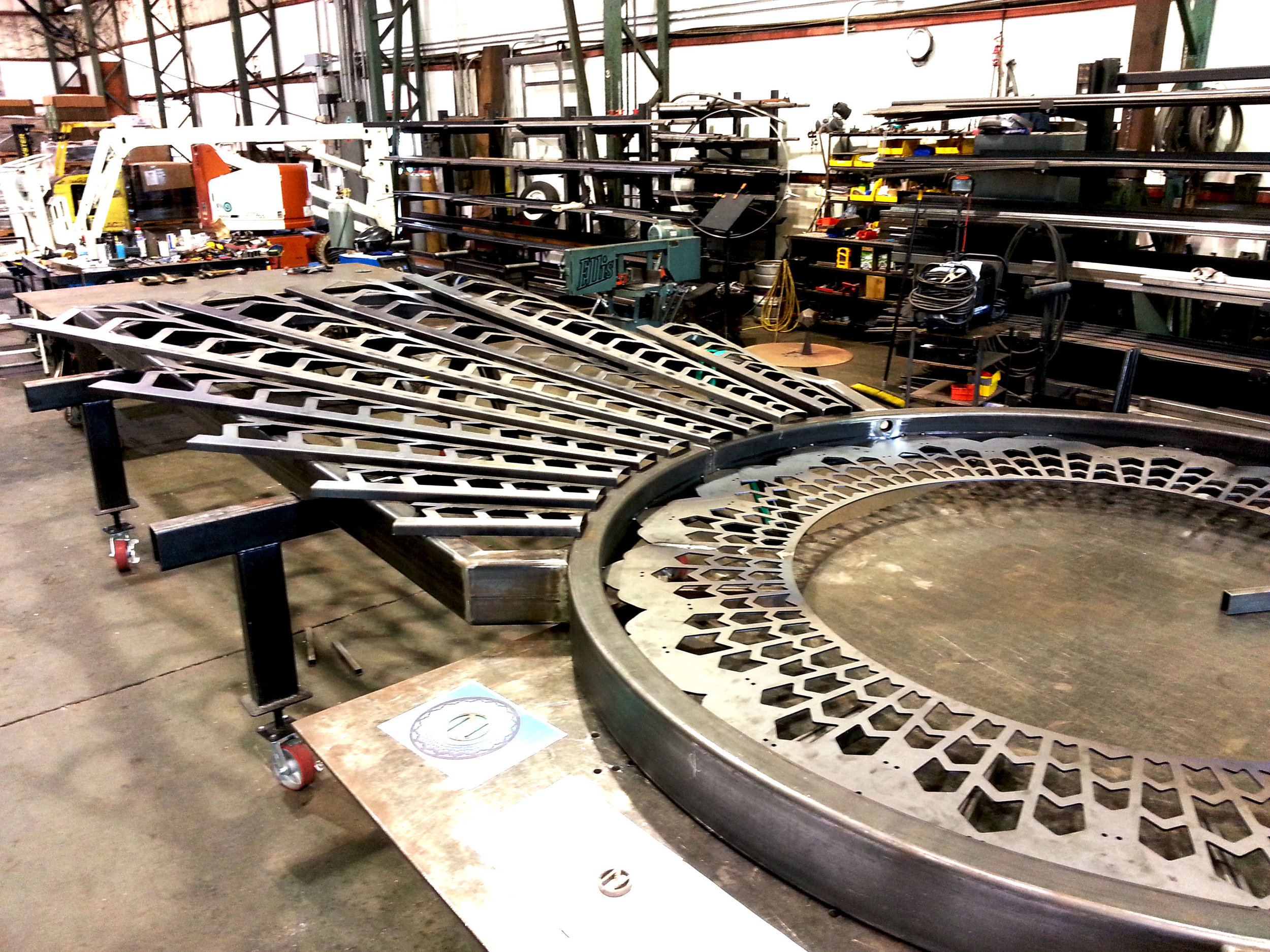 Fabrication of Ninkasi Brewing Administration Building Automatic Gate