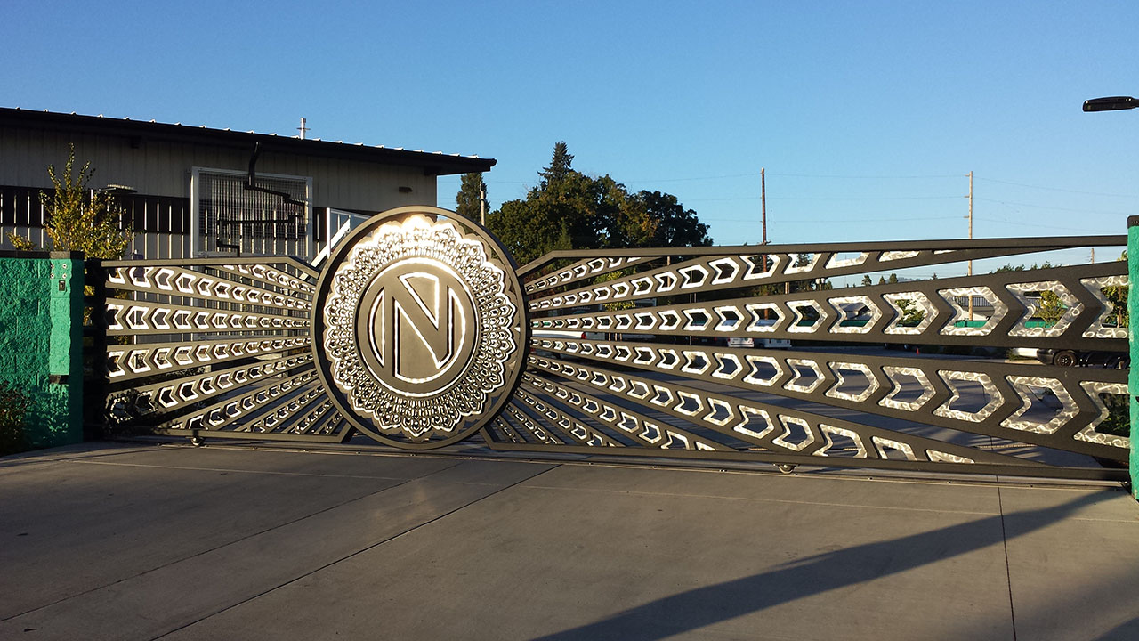 Ninkasi Brewing Administration Building Automatic Gate