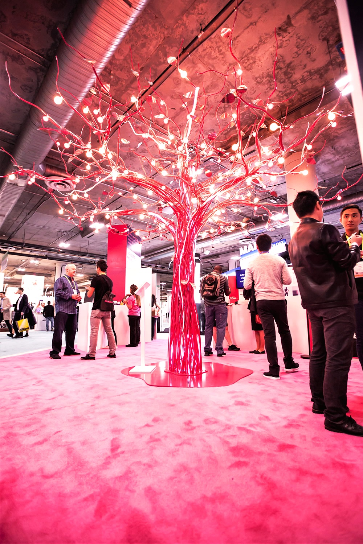 Indiegogo Pink Metal Fabricated Tree