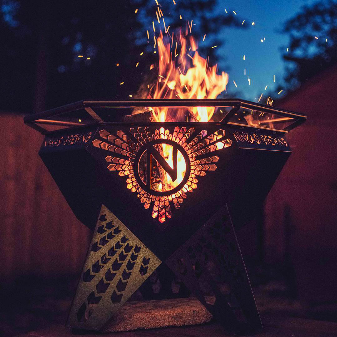 Ninkasi Brewing Branded Firepit.jpg