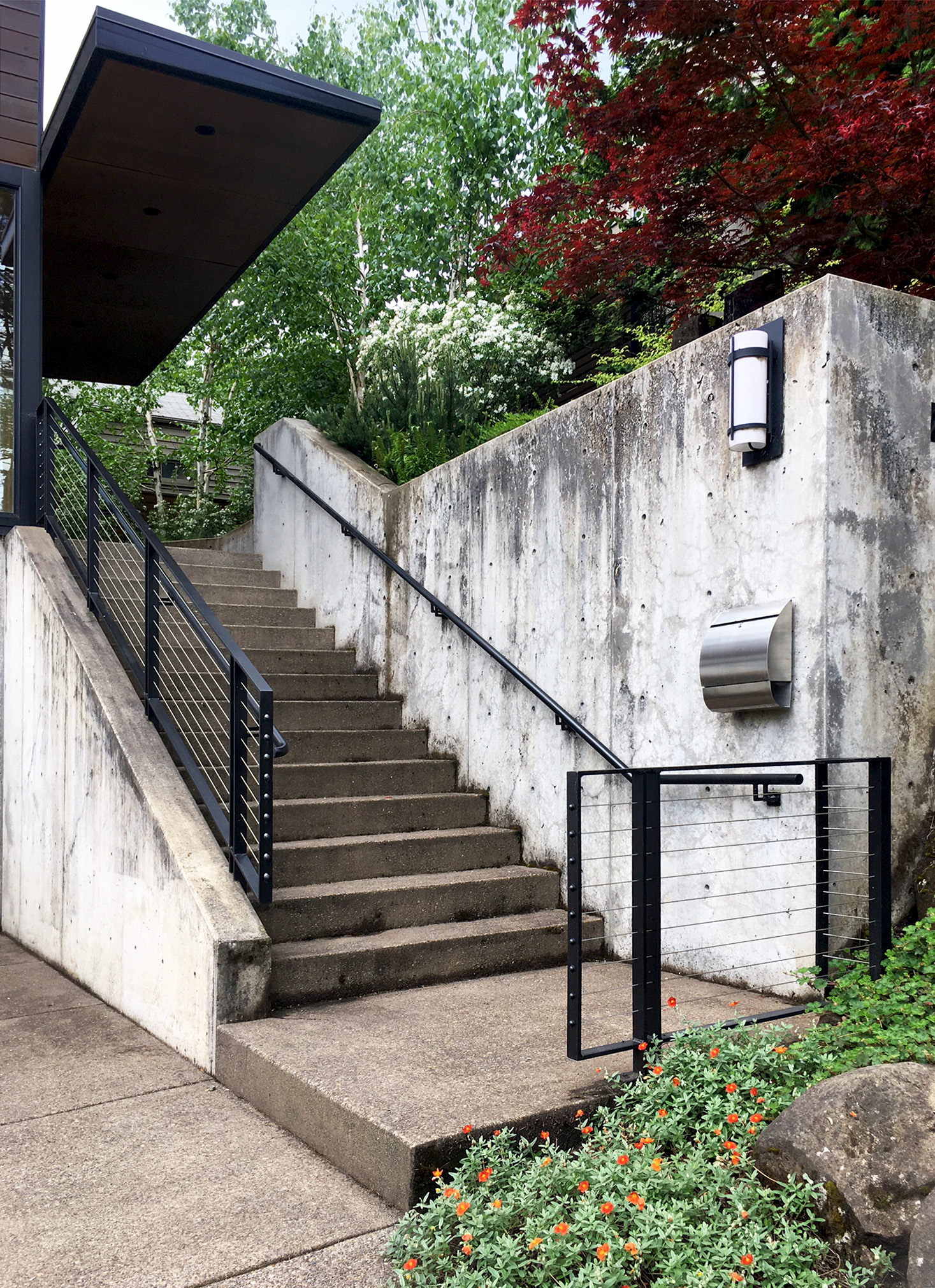 Exterior Residential Hand Rail and Stainless Steel Cable Railing