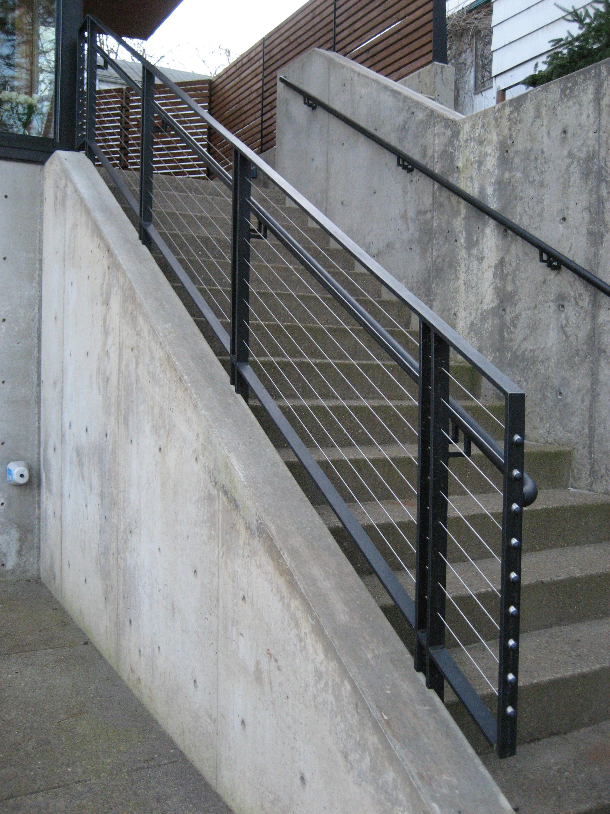 Detail of Handrail with Stainless Steel Cable