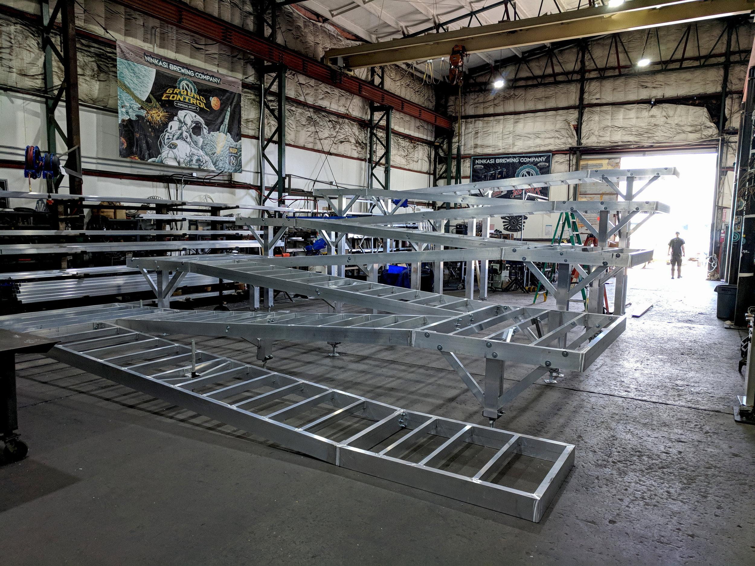 Aluminum ADA event ramp.