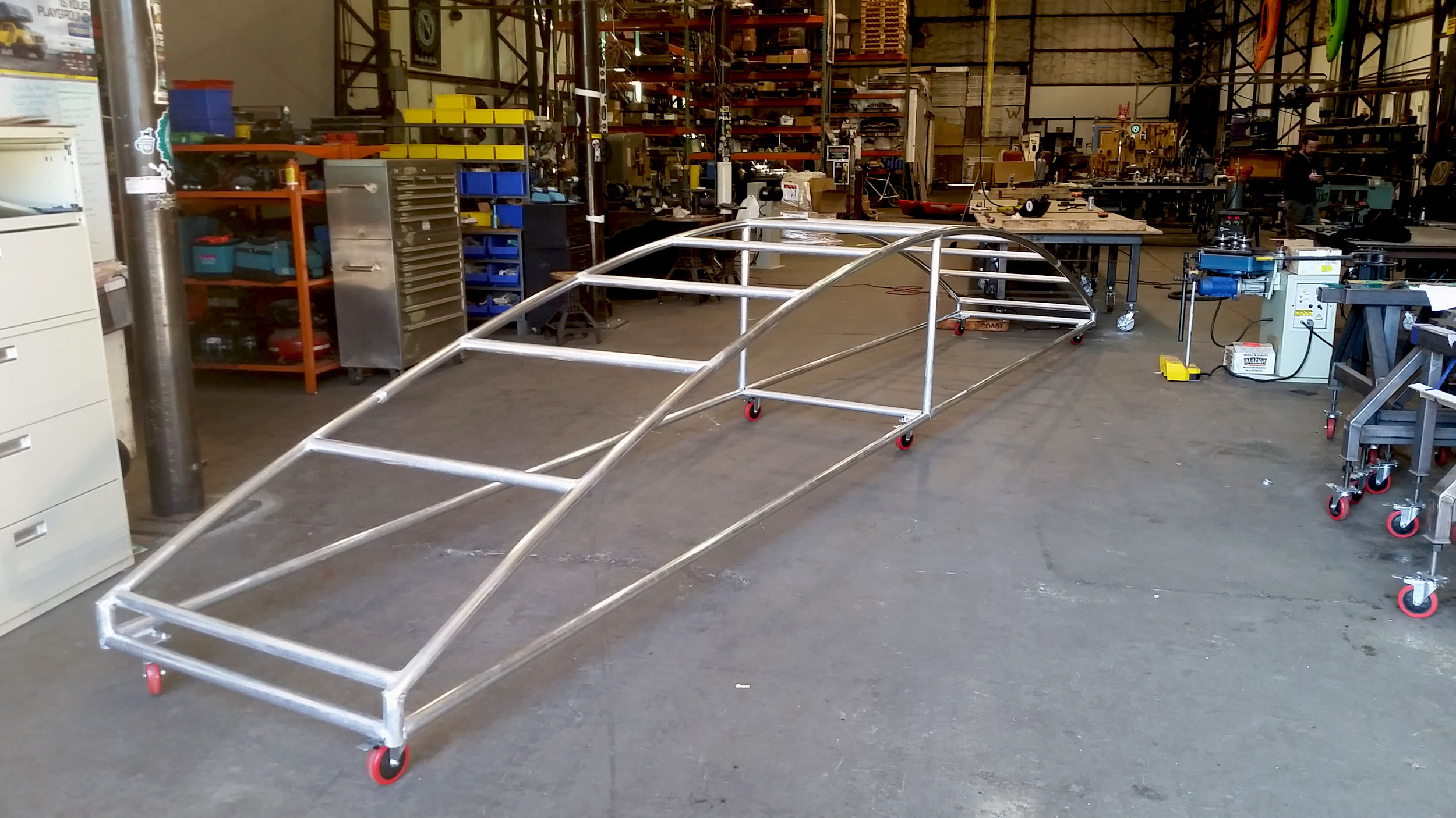 Custom Beer Line Aluminum Rack