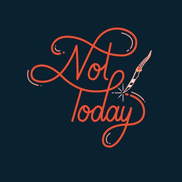 what do we say to the god of death? ⚡️💀🔪✨ ⠀⠀⠀⠀⠀⠀⠀⠀⠀ ⠀⠀⠀⠀⠀⠀⠀⠀⠀ ⠀⠀⠀⠀⠀⠀⠀⠀⠀ ⠀⠀⠀⠀⠀⠀⠀⠀⠀ ⠀⠀⠀⠀⠀⠀⠀⠀⠀ #etsy #etsyuk #illustration #etsyseller #gotlettering2019 #gotart #createeveryday #gotfanart #bristolgirlbosses #letteringco #illustrationoftheday #weloveillustration #ukillustrator #gameofthronesart #battleofwinterfell #shoplocalbristol #bristoletsyteam #etsyselleruk  #typelove #handlettering #handdrawntype #goodtype #gameofthrones #aryastark #gotlettering #strengthinletters #valarmorghulis #gameofthronesquotes #nottoday #thelongnight