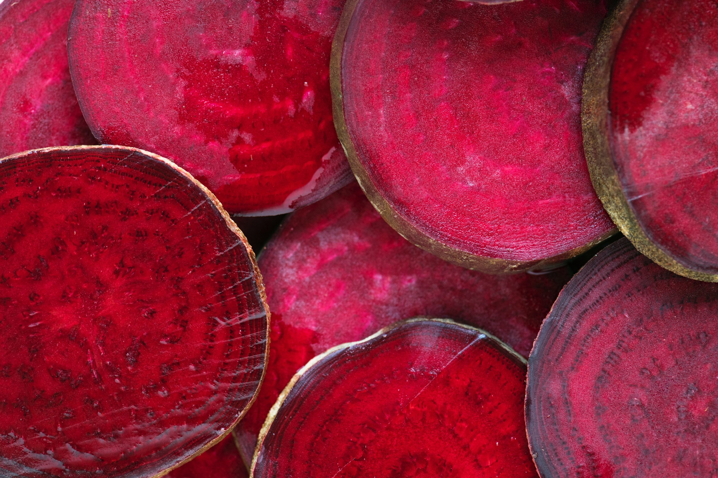 The liver loves beets.