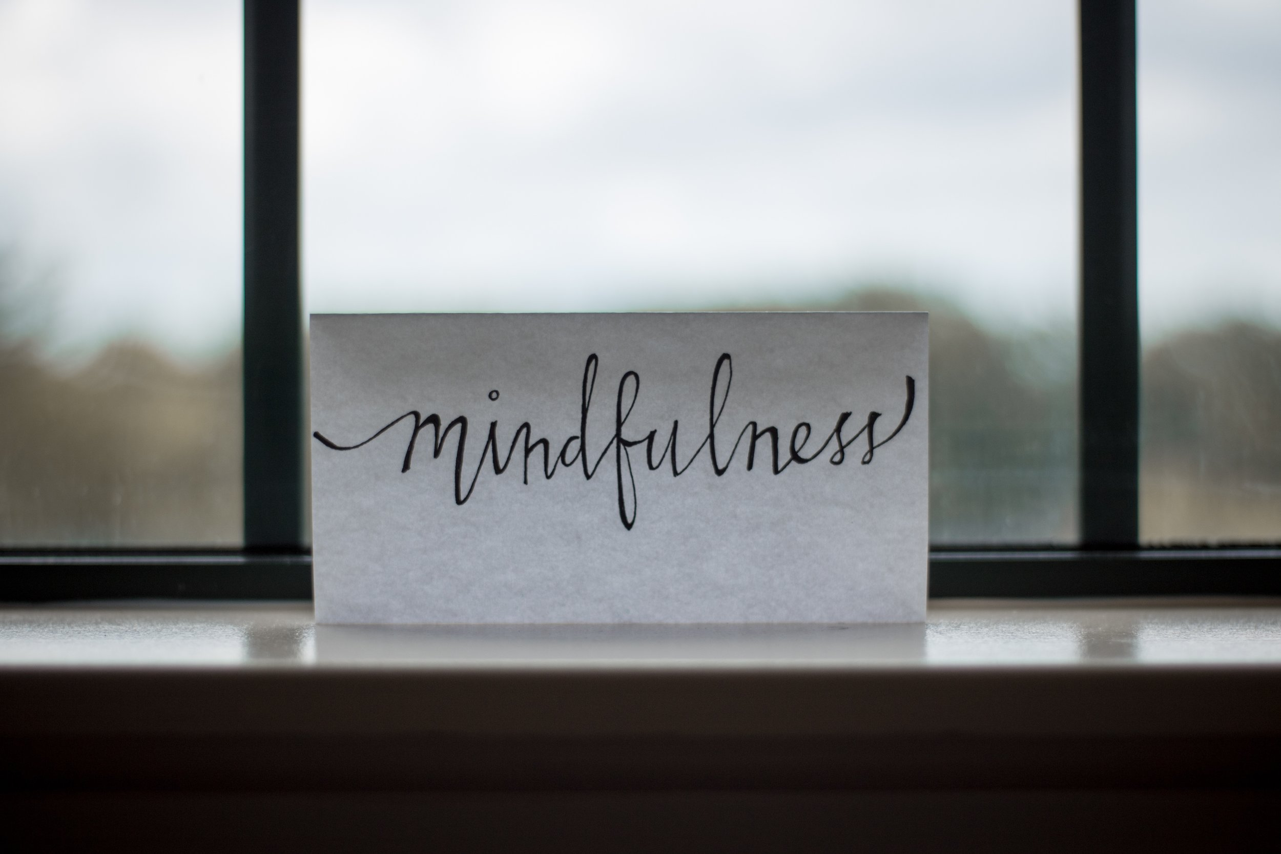 Monitor your thoughts. Mindfulness encourages healing.