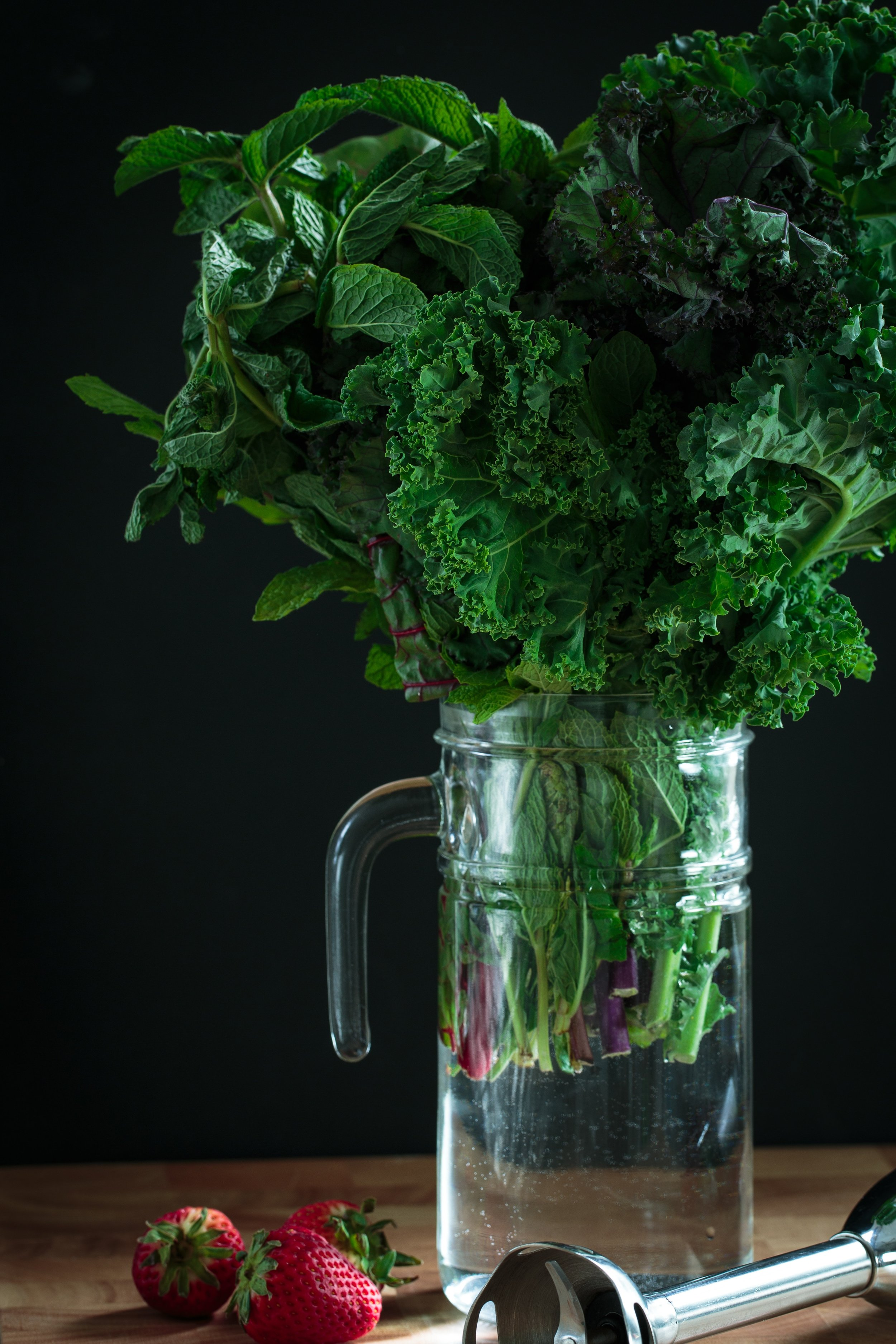 Dark leafy greens are full of B vitamins for energy as well as magnesium (the calming mineral) which 80% of us are deficient in.