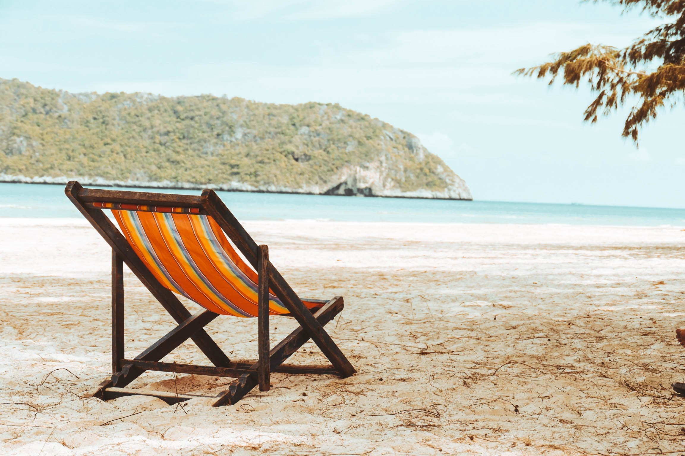 The beach chair is waiting for you. Take time for vacations or staycations.