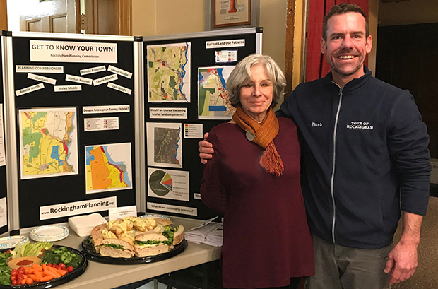 Planning Chair Bonnie North & Rockingham Planning & Zoning Commissioner Chuck Wise - Town Meeting March 2019