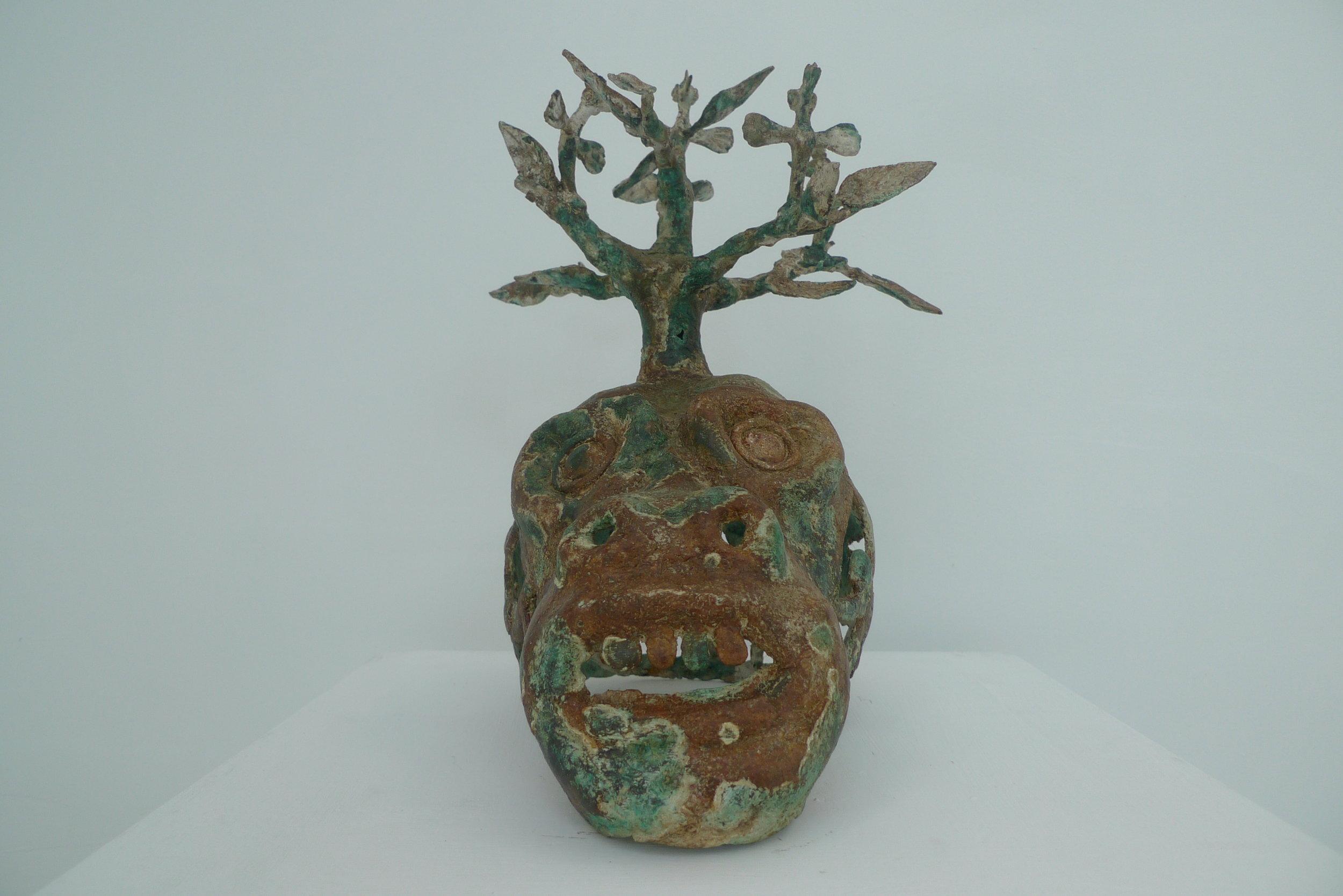 Histoire de têtes I, 30x40cm, Sculpture bronze, 2018