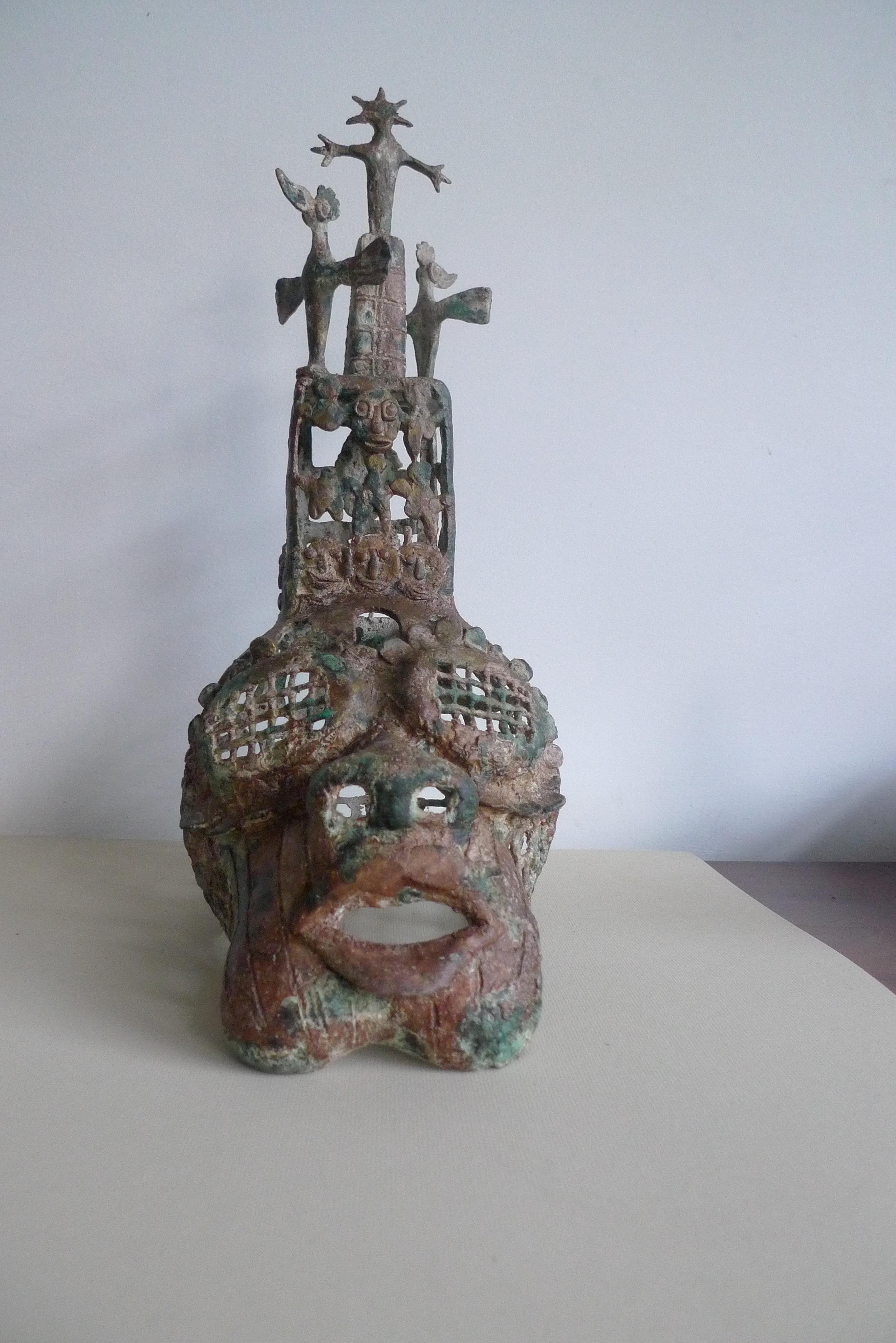 Histoire de têtes VI, 30x40cm, Sculpture bronze, 2018
