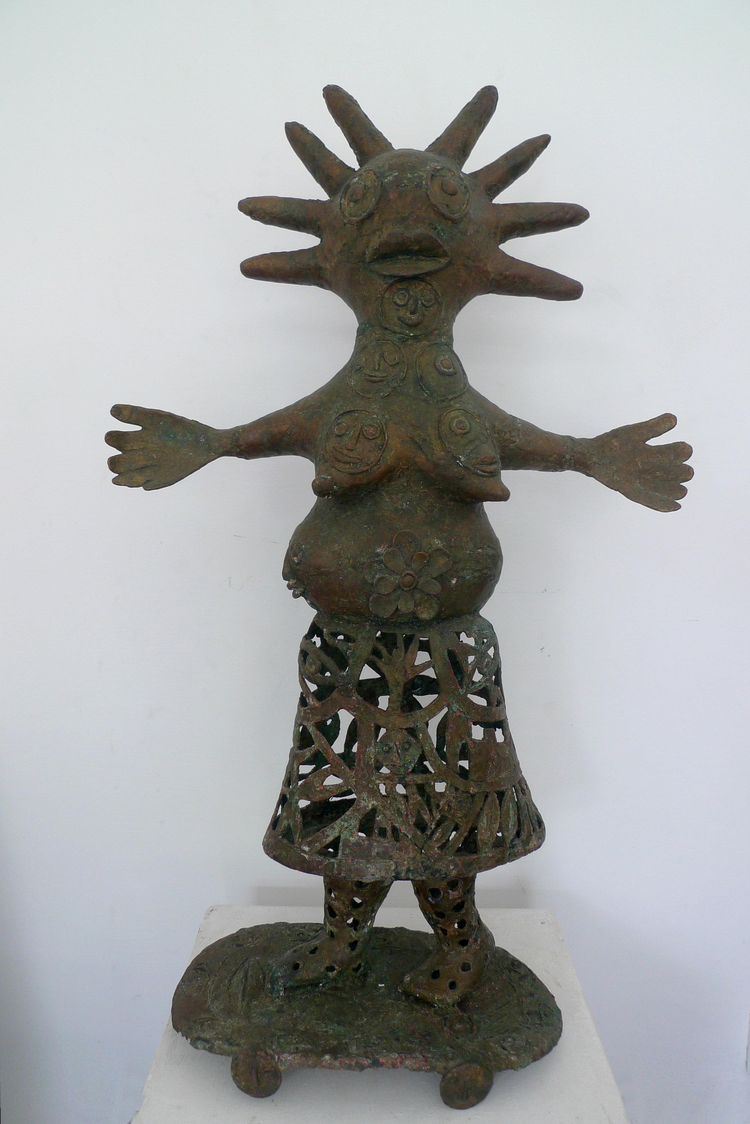 La reine, 100cm x 60cm x 25cm, sculpture bronze, 2016