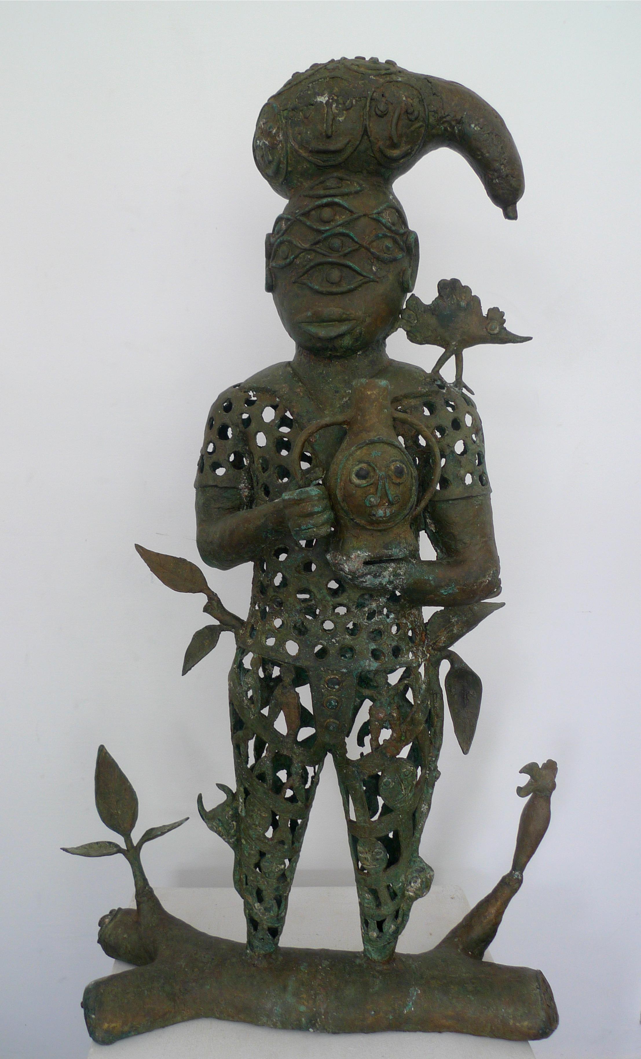 Le roi, 100cm x 64cm x 22cm, sculpture bronze, 2016