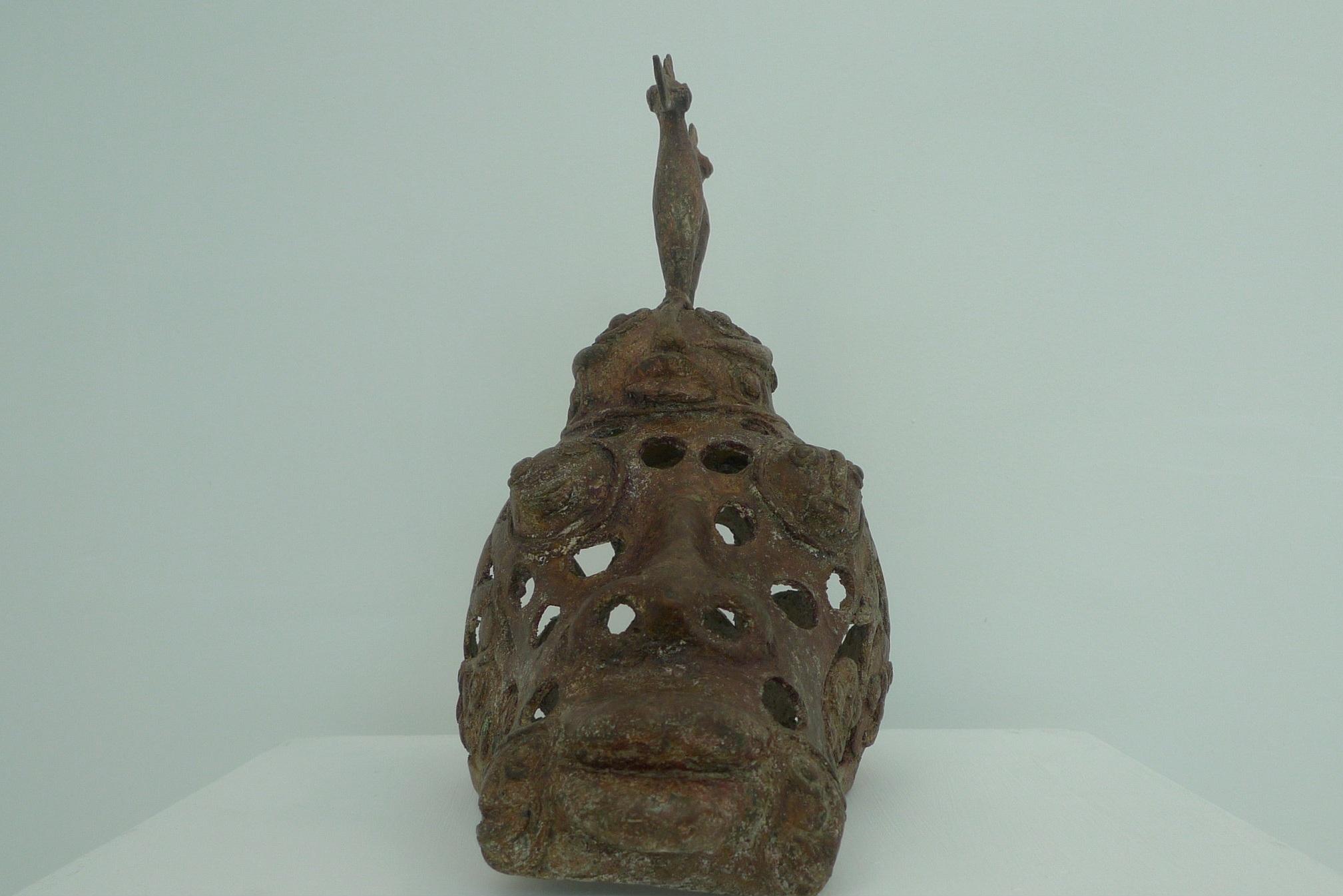 Histoire de têtes II, 30x40cm, Sculpture bronze, 2018