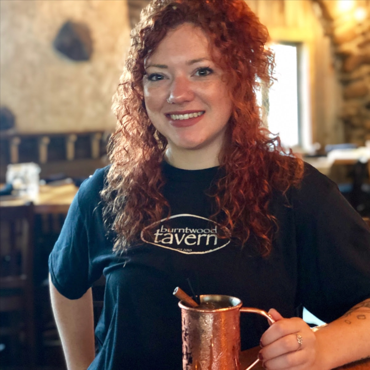 Cinnamule made with crown apple, cider & ginger beer.