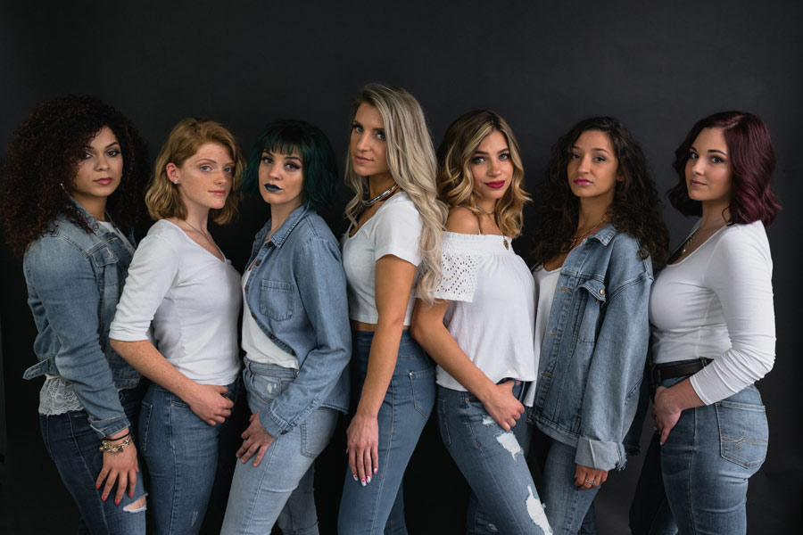 These are the models featured in TOMORROWS Salon's Stylist Portfolio.